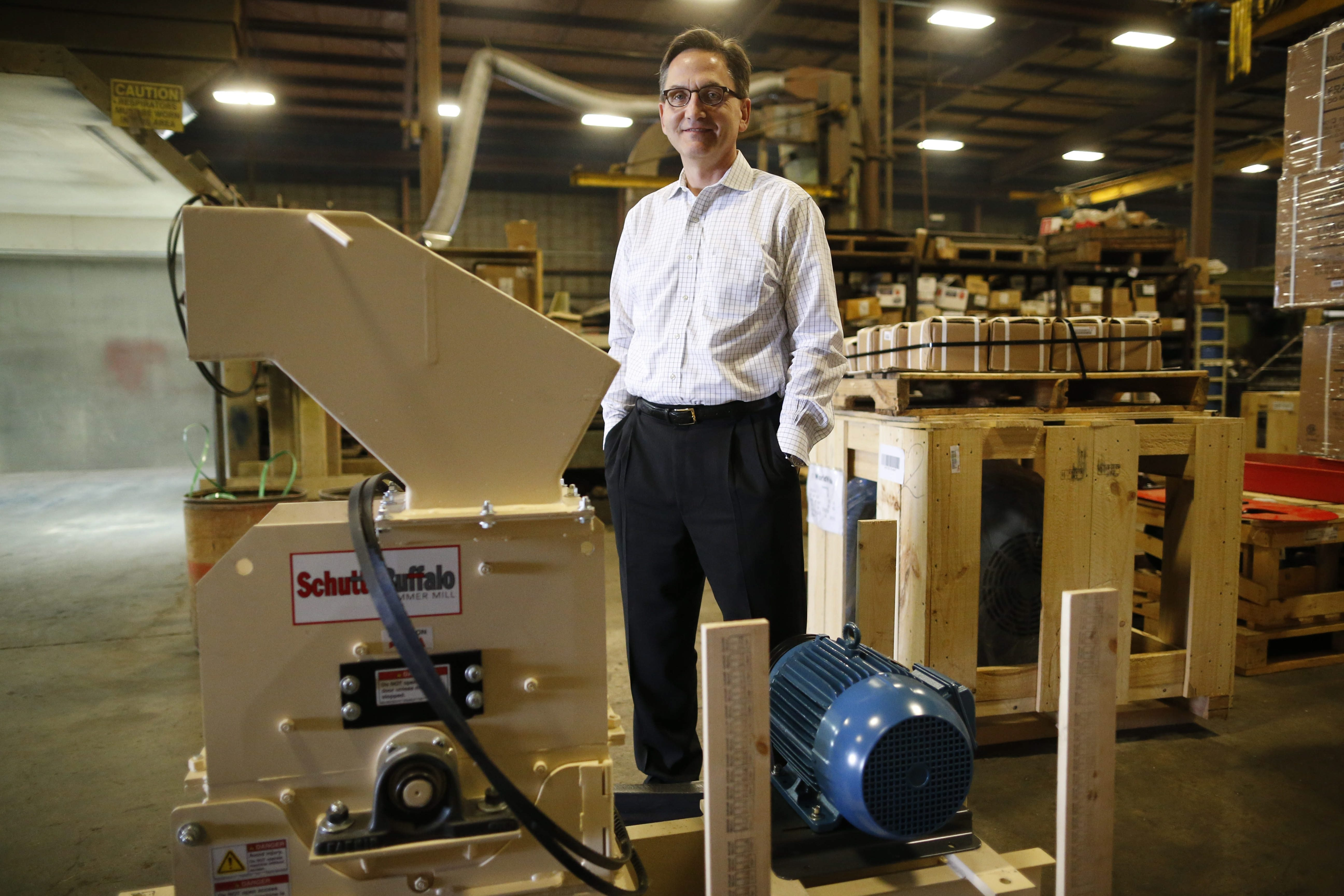 Martin Berardi, CEO of Schutte-Buffalo Hammermill, bought the manufacturer after a long career with Moog Inc.