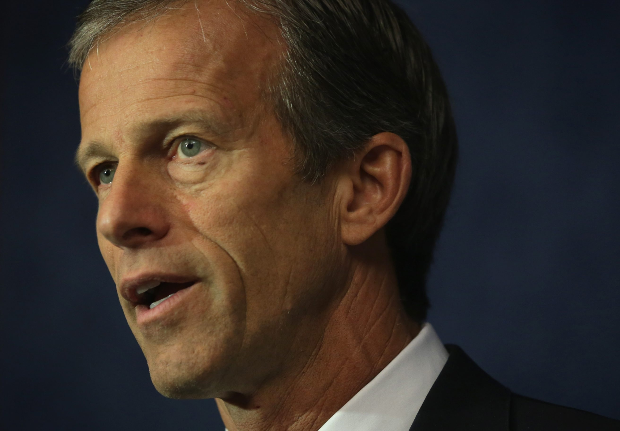 Senators John Thune and Angus King are leading. U.S. Sen. John Thune (R-SD) speaks during a news conference May 14, 2015 on Capitol Hill in Washington, DC. Senate Republicans were joined by agriculture industry leaders urged passage that could benefit the agriculture community to be included in the trade promotion authority legislation.  (Photo by Alex Wong/Getty Images)