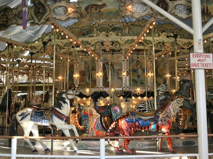 Purchase of Herschell-Spillman carousel like this one in Maryland has been approved by Erie Canal Harbor Development for a possible 2017 debut at Canalside.