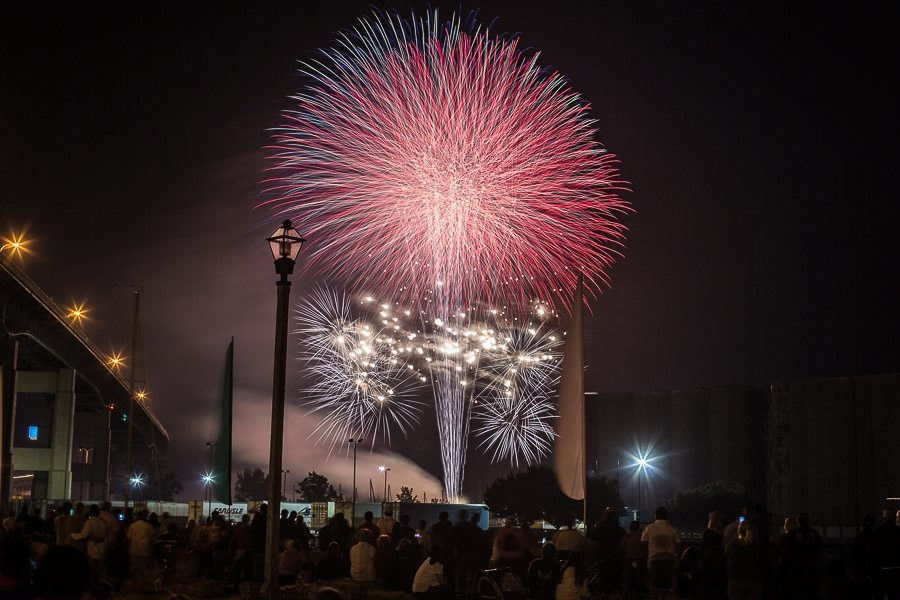 Western New Yorkers converged on Canalside for a gargantuan fireworks display on the waterfront. Local restaurant owner Russ Salvatore commissioned the explosions that lit up the night sky. Photos were taken on July 4, 2014. (Chuck Alaimo / Special to the News)