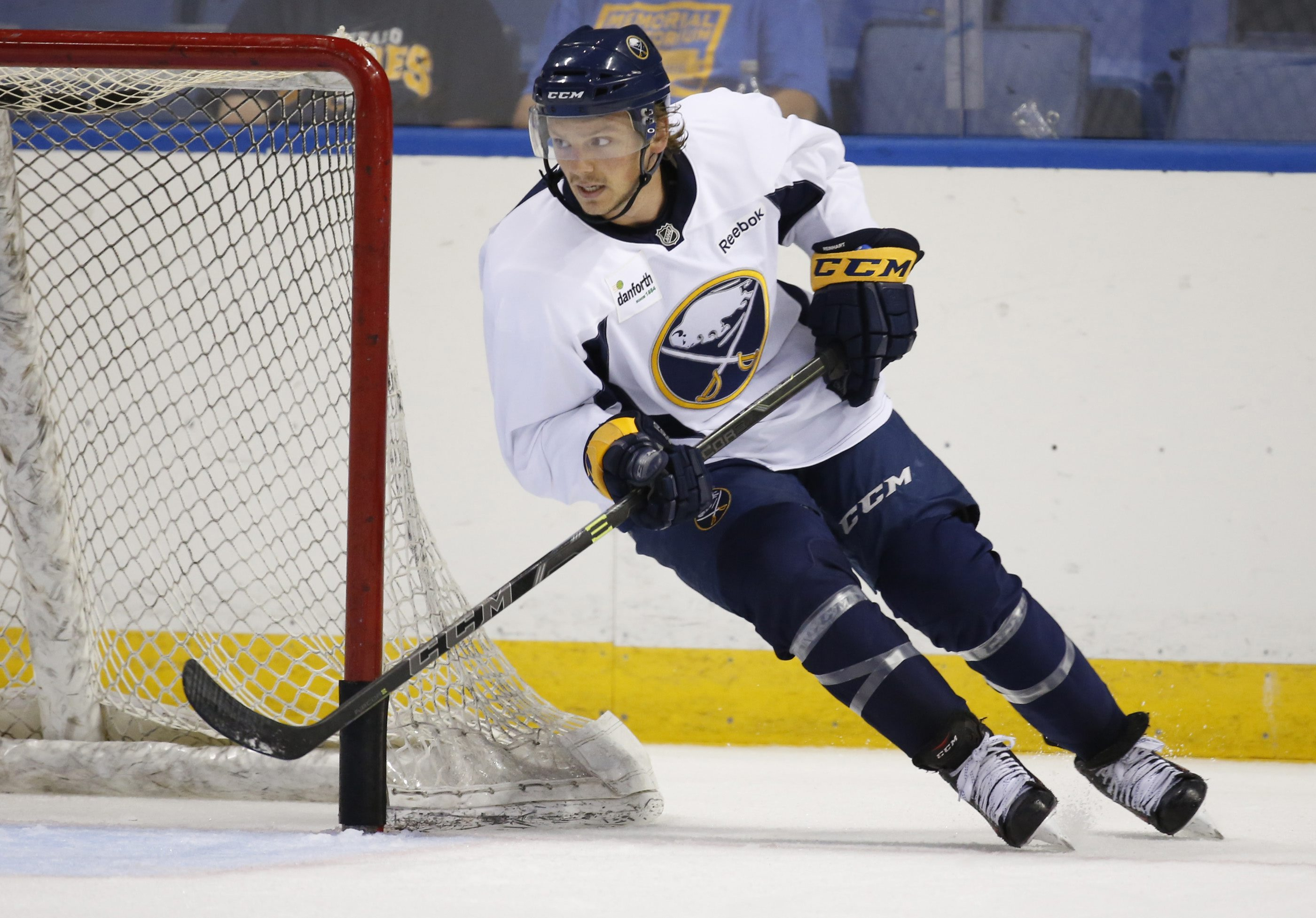 Harry Scull Jr./Buffalo News  Sam Reinhart looks more chiseled and his skating has vastly improved.