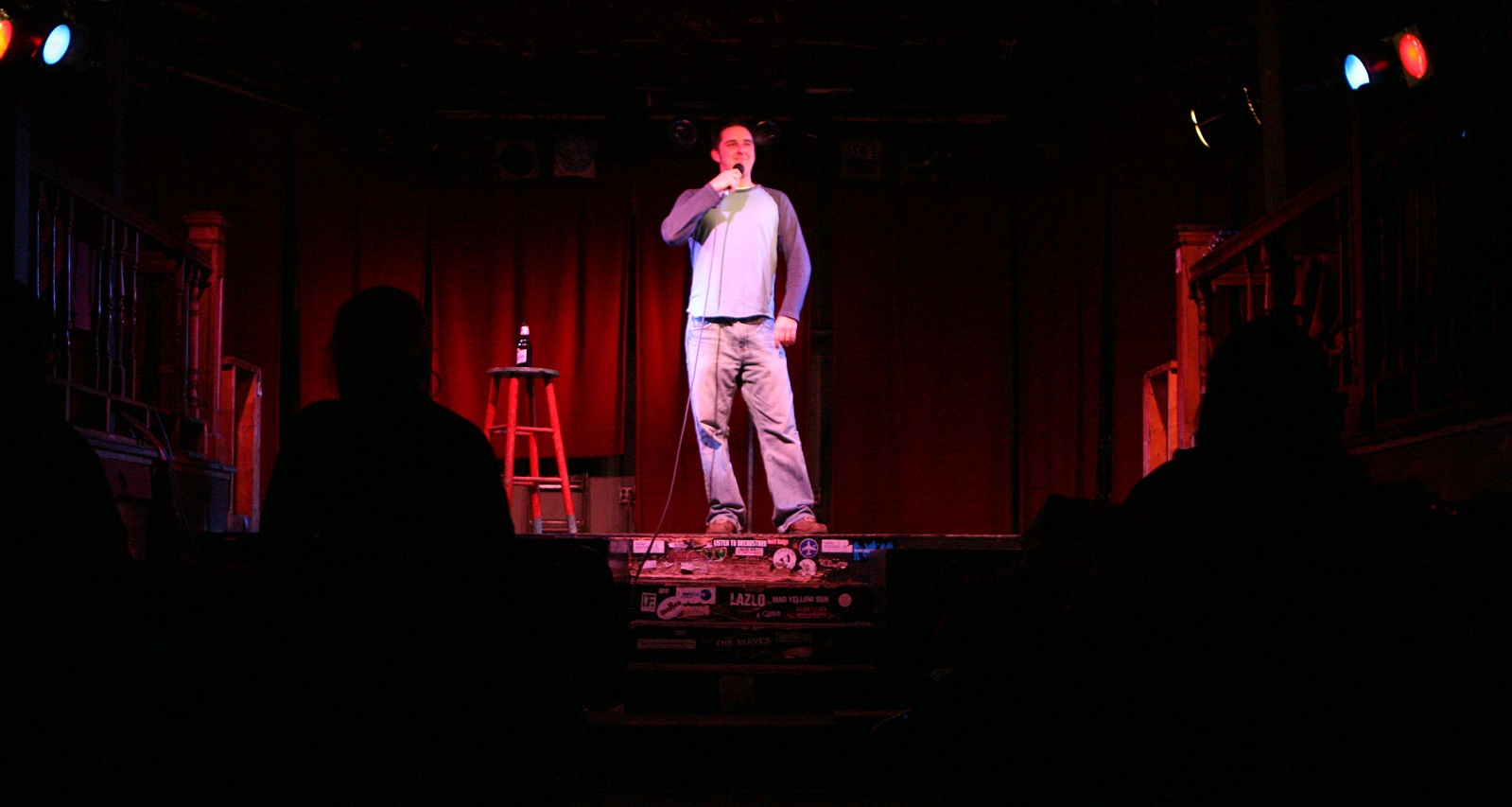 Brian Herberger, pictured in a 2008 comedy night at Nietzsche's, won Buffalo's Funniest Person. (Buffalo News file photo)