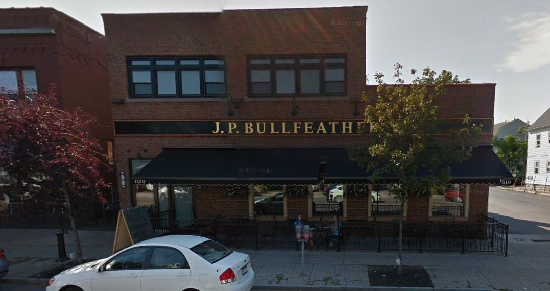 J.P. Bullfeathers has been closed for several weeks, and it will be sold. (Screenshot from Google Street View)
