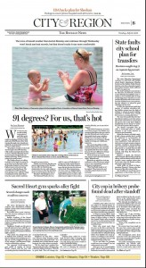 The three-day streak of 90-degree weather was making news on the last day it hit 90 in Buffalo: July 16, 2013. (Buffalo News)