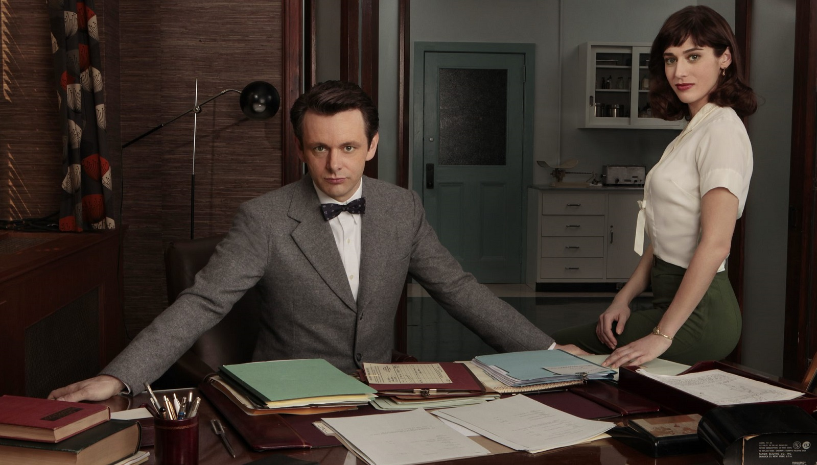Michael Sheen and Lizzy Caplan star in Showtime's 'Masters of Sex.'