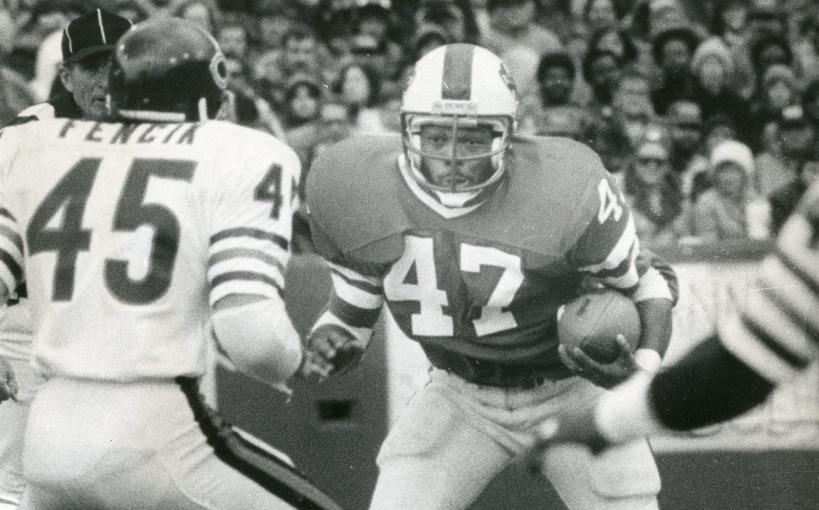 Curtis Brown is seen during one of his games as a Bill, this one on Oct. 7, 1979. (Buffalo News archives)