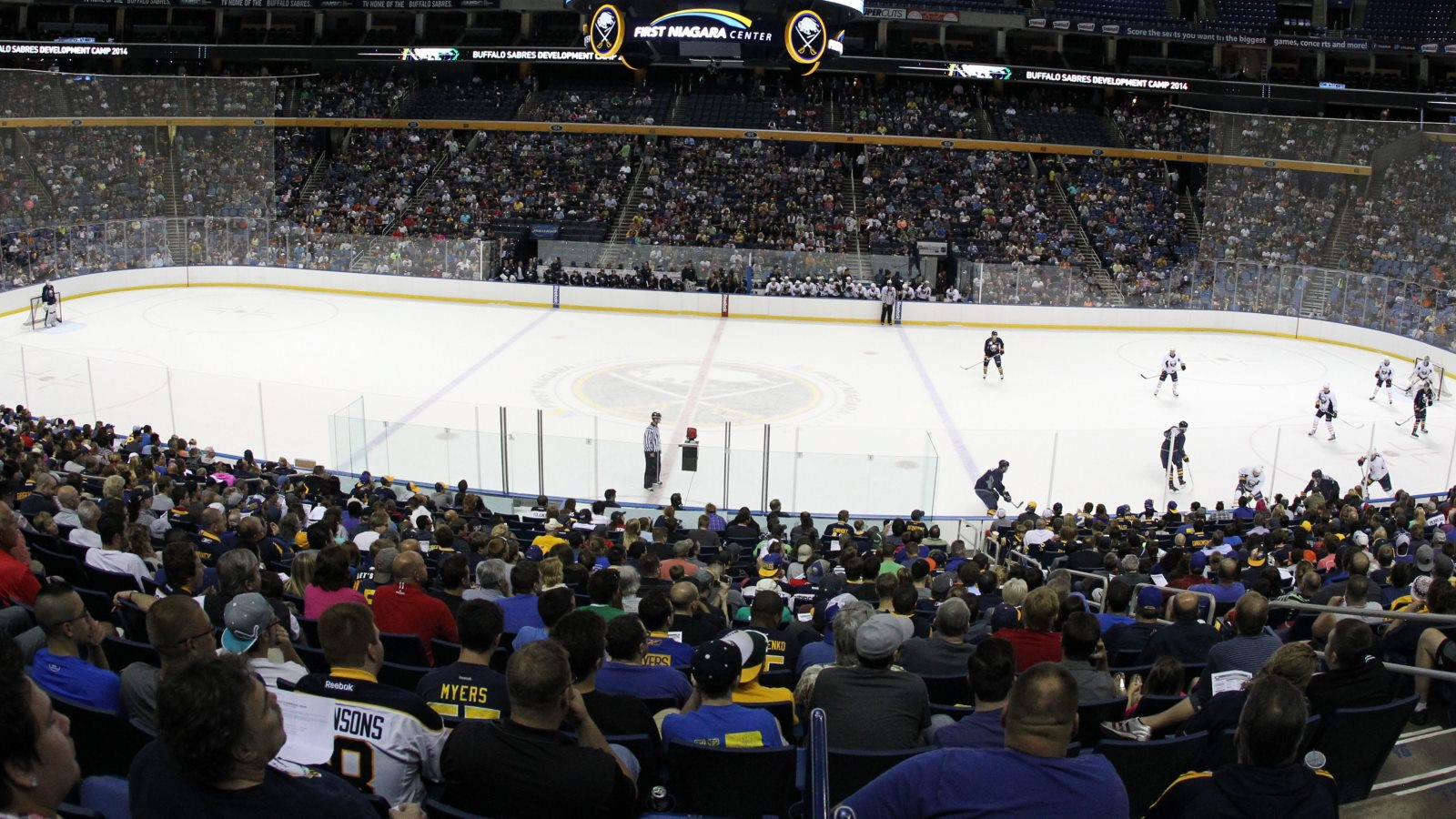 Events at KeyBank Center are among those on which the city wants to levy a ticket surcharge to help pay for security. It's not unreasonable, but the cost shouldn't be based on the price of the ticket. (James P. McCoy/Buffalo News)