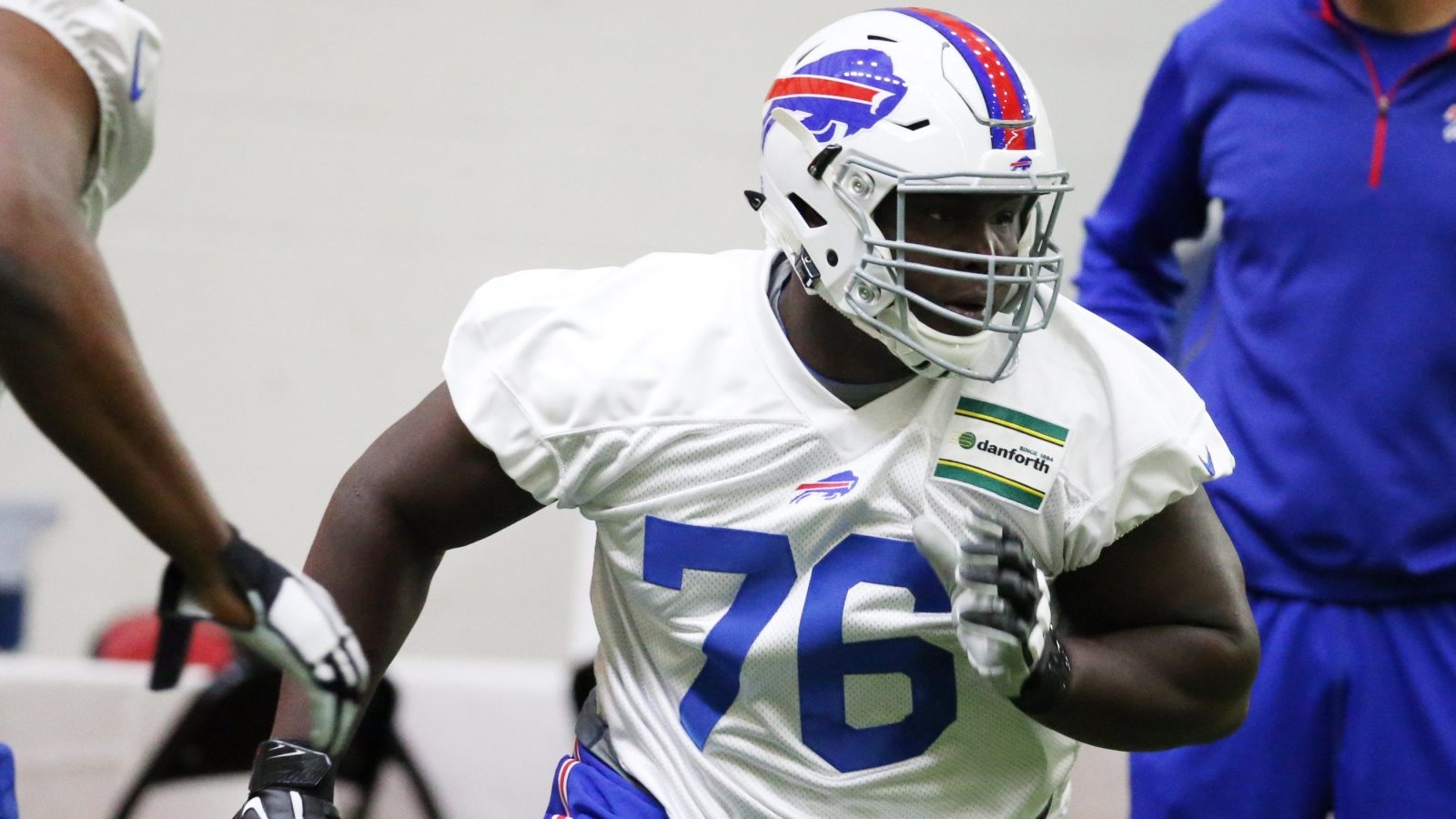 Bills rookie John Miller will be given every chance to win a starting spot at offensive guard during training camp. (James P. McCoy/Buffalo News)