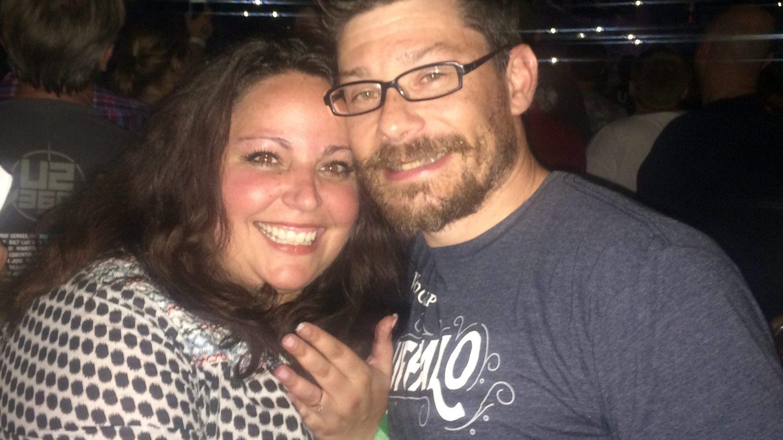 The newly engaged Katie Krawczyk with fiance Dan Gigante. (Photo provided by Katie Krawczyk)