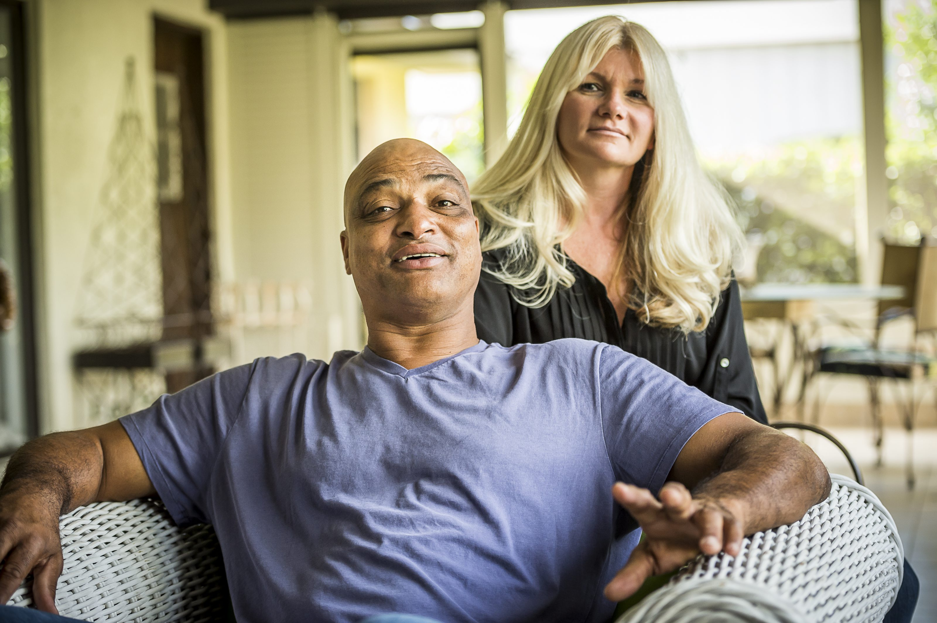 Darryl and wife Janine Talley at their home in Orlando in Nov. 2014. (Photo by Roberto Gonzalez)