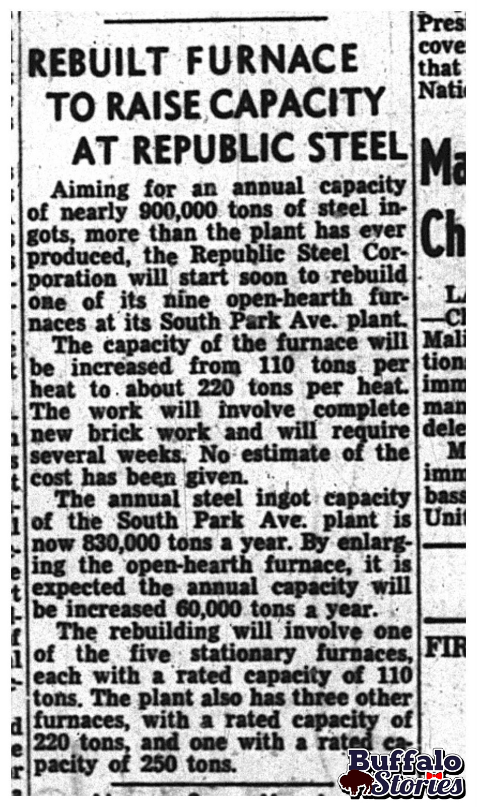aug 3 1950 south buffalo s republic steel aims for nearly a