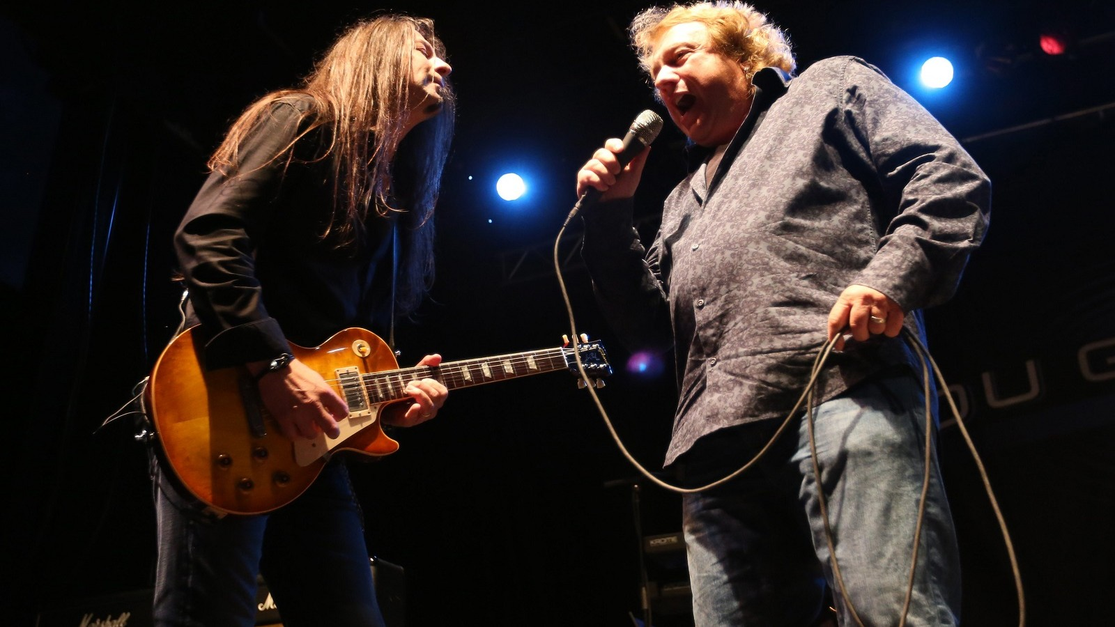 Rochester native Lou Gramm, the original lead singer of the rock band Foreigner, returns to Gratwick Riverside Park for North Tonawanda's Rockin' in the Park. On left is guitarist Michael Staertow.  (Sharon Cantillon/Buffalo News)