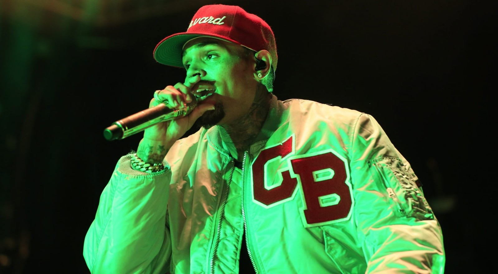 Chris Brown performs at Darien Lake, delivering a show heavy on spectacular dance moves for his enthusiastic fans. (Harry Scull Jr./Buffalo News)