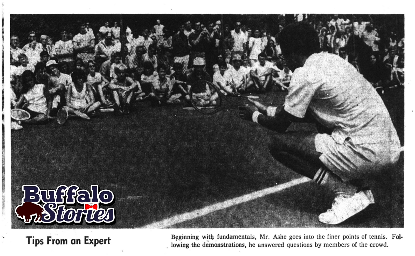 Aug. 13, 1970: Arthur Ashe plays at Delaware Park