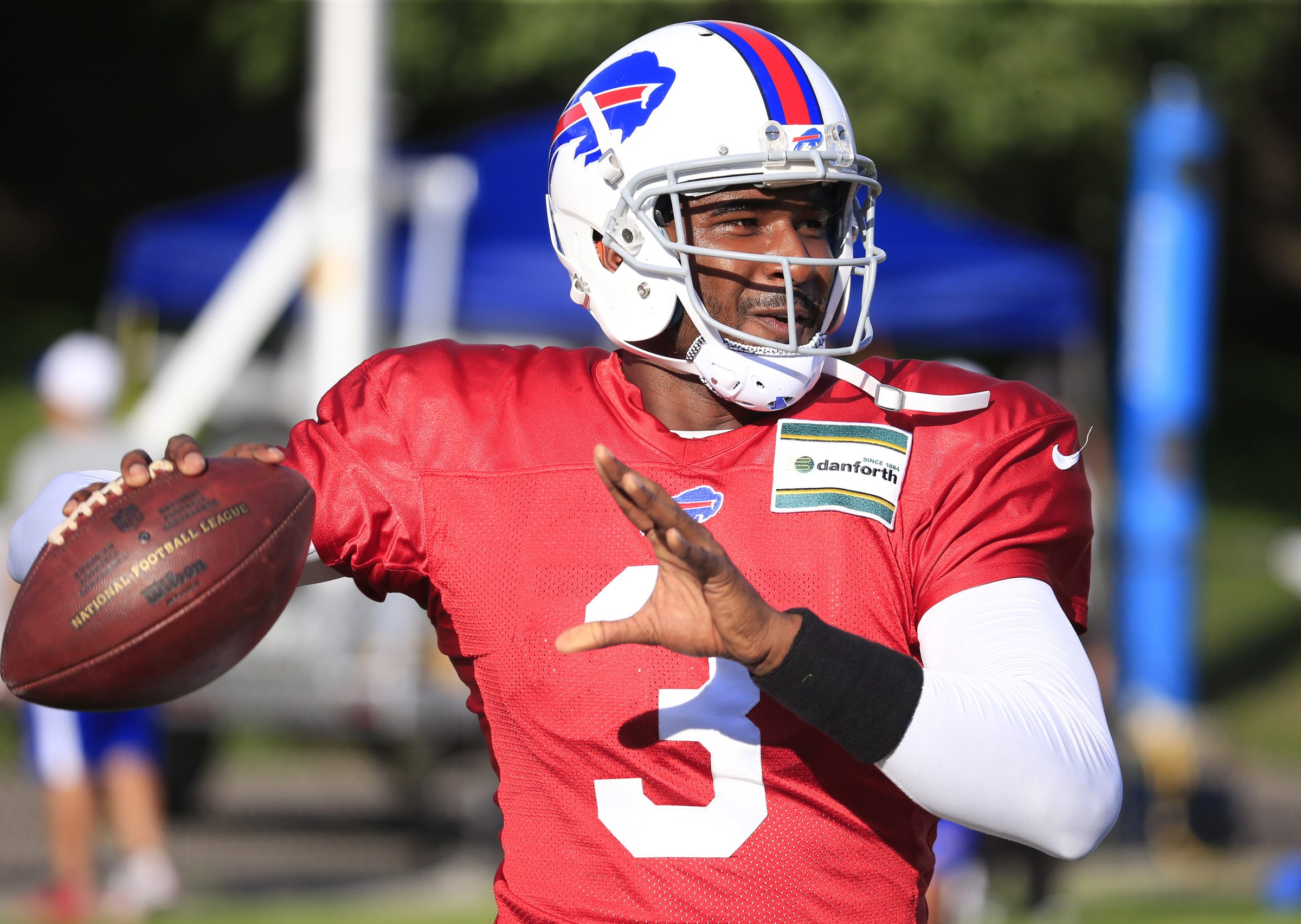 Quarterback EJ Manuel  during training camp at St. John Fisher College. (Harry Scull Jr/Buffalo News)