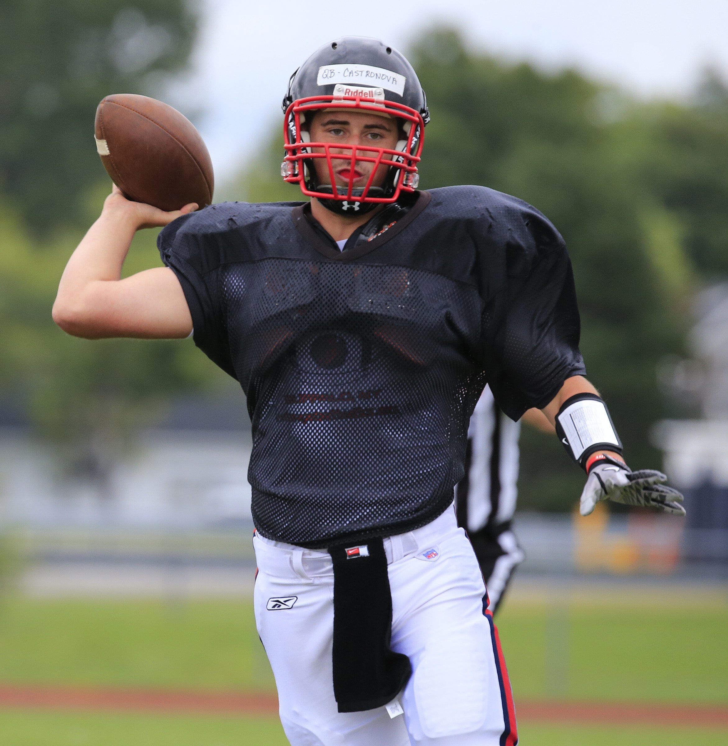 Sam Castronova (Williamsville South) is one of two area quarterbacks battling for the starting job for Erie Community College.