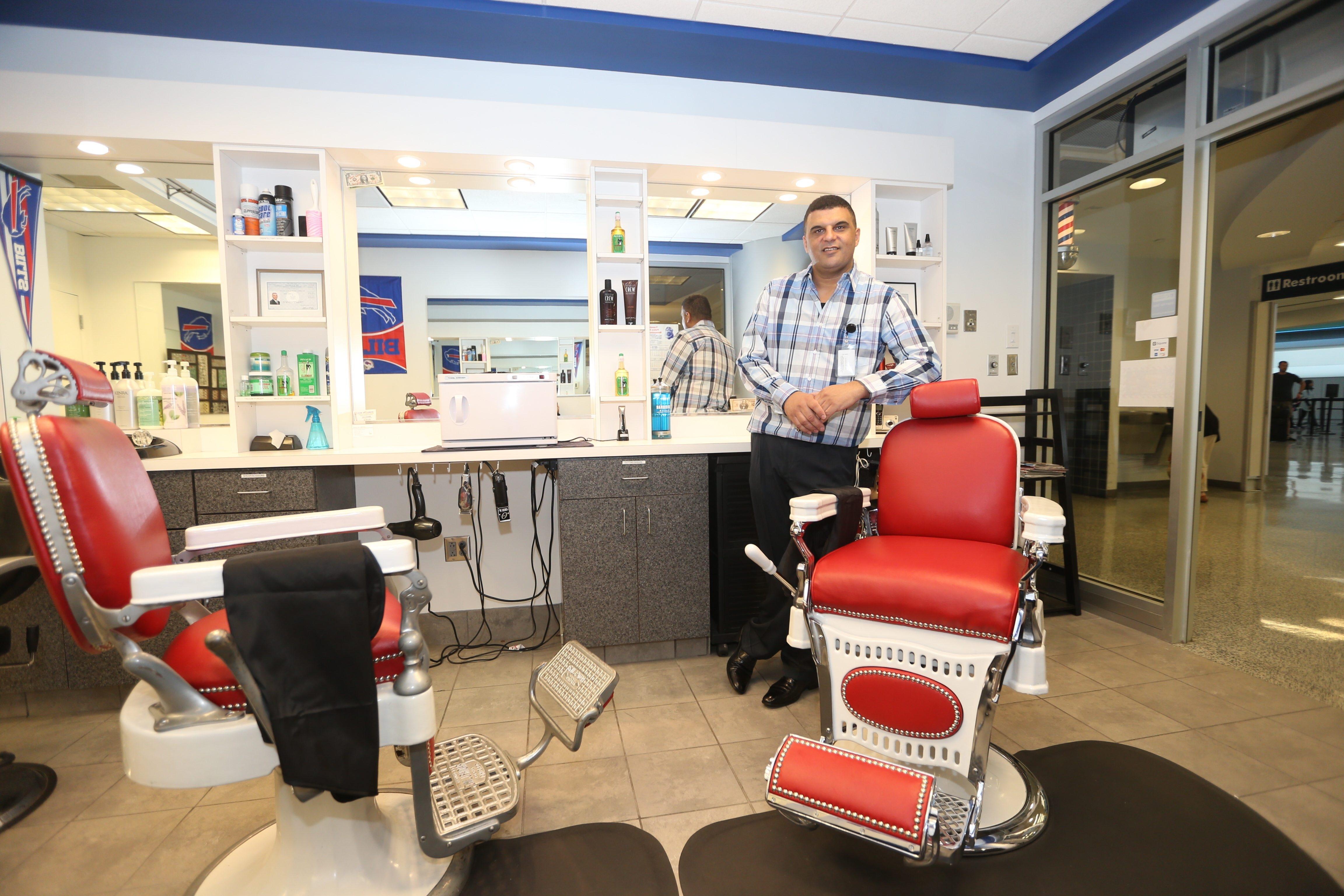 Hamdi Ismail At His Old Fashioned Barber Shop At Buffalo Niagara  International Airport In Cheektowaga.