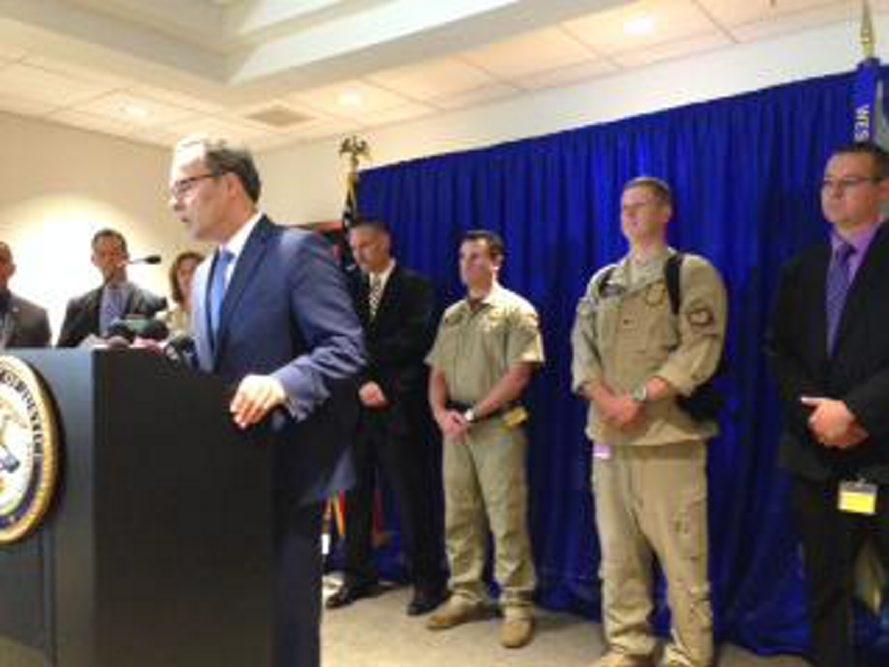 U.S. Attorney William J. Hochul announces drug seizure Wednesday. (Jay Tokasz)