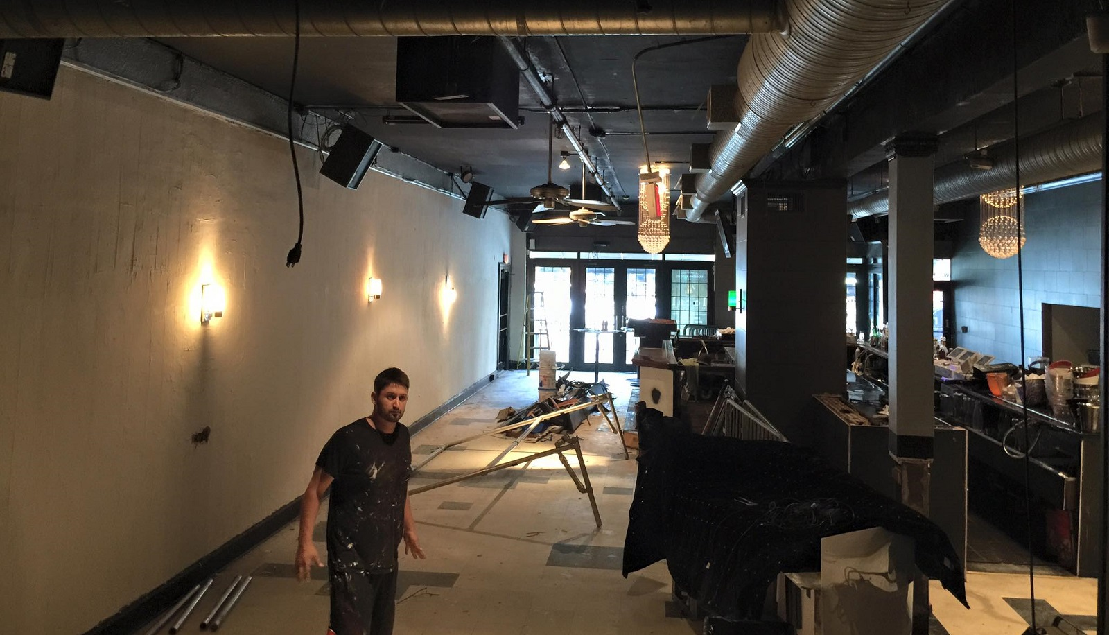 Renovation is underway at Noir, which will become Local Kitchen & Beer Bar. (via Justin Noir's Facebook page)