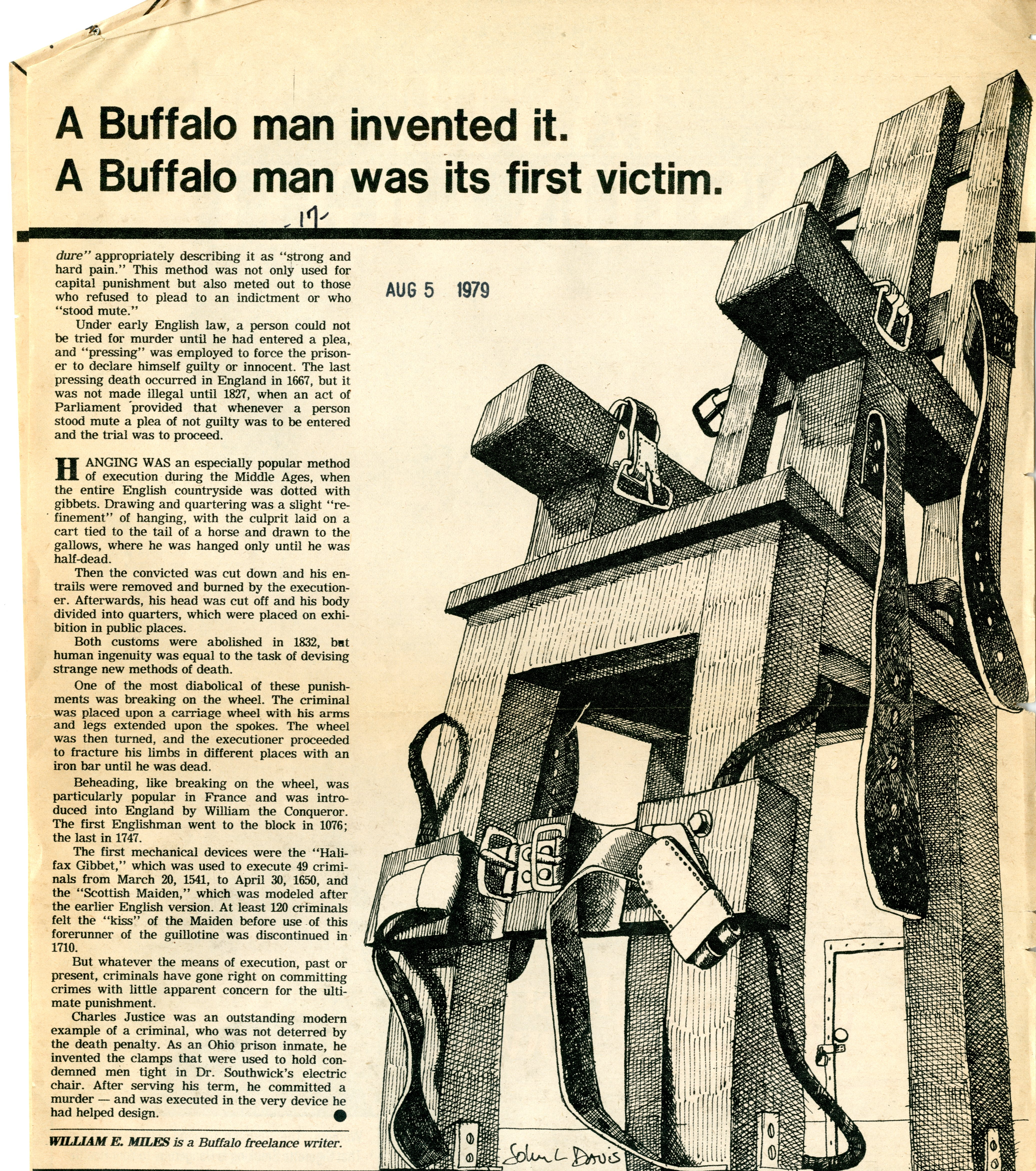 Aug 6 1890 Buffalo man is first to be executed by electric – Electirc Chair