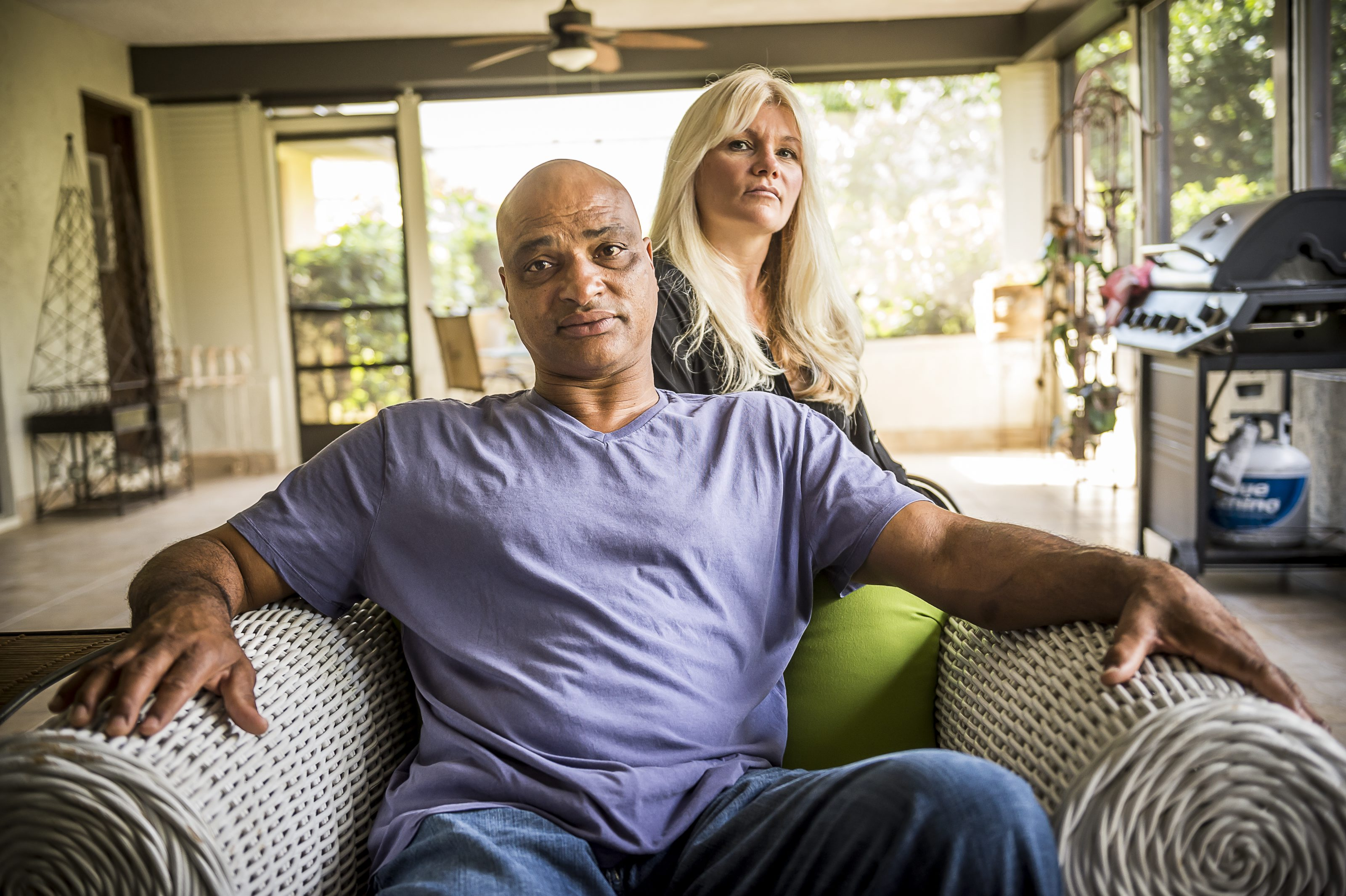 Welcome new rules in the NFL are meant to decreased the risks of concussions, such as those suffered by Bills great Darryl Talley, shown with his wife, Janine. (Roberto Gonzalez/Special to The News)