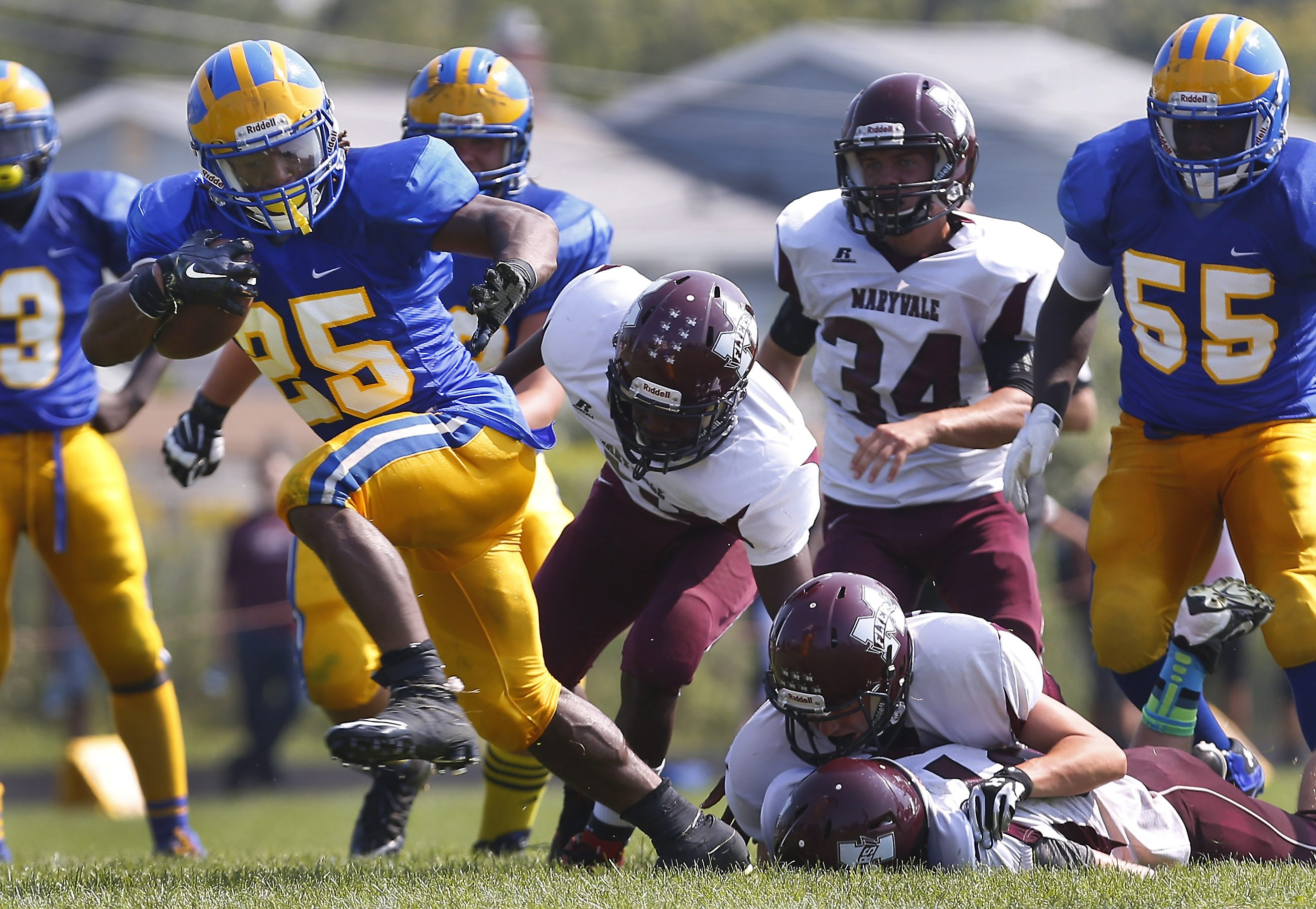 Grayson Taylor averages 151 yards rushing and 15 tackles per game for a Cleveland Hill team that visits Lackawanna on Friday in a battle between unbeatens in Class C North.