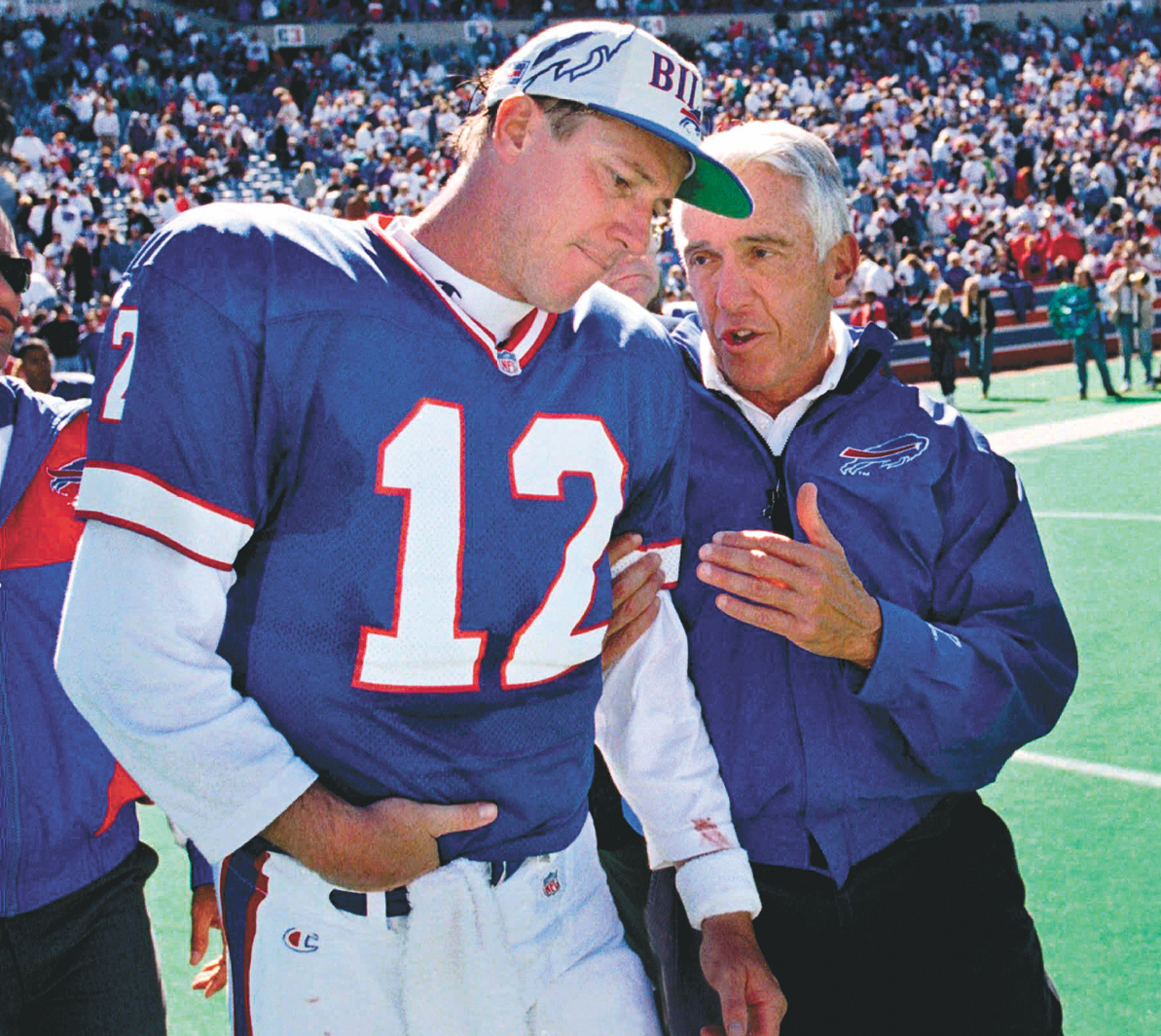 Former Buffalo Bills quarterback Jim Kelly is ranked as one of the 15 best quarterbacks of all time by a prominent ESPN writer. (Buffalo News file photo)