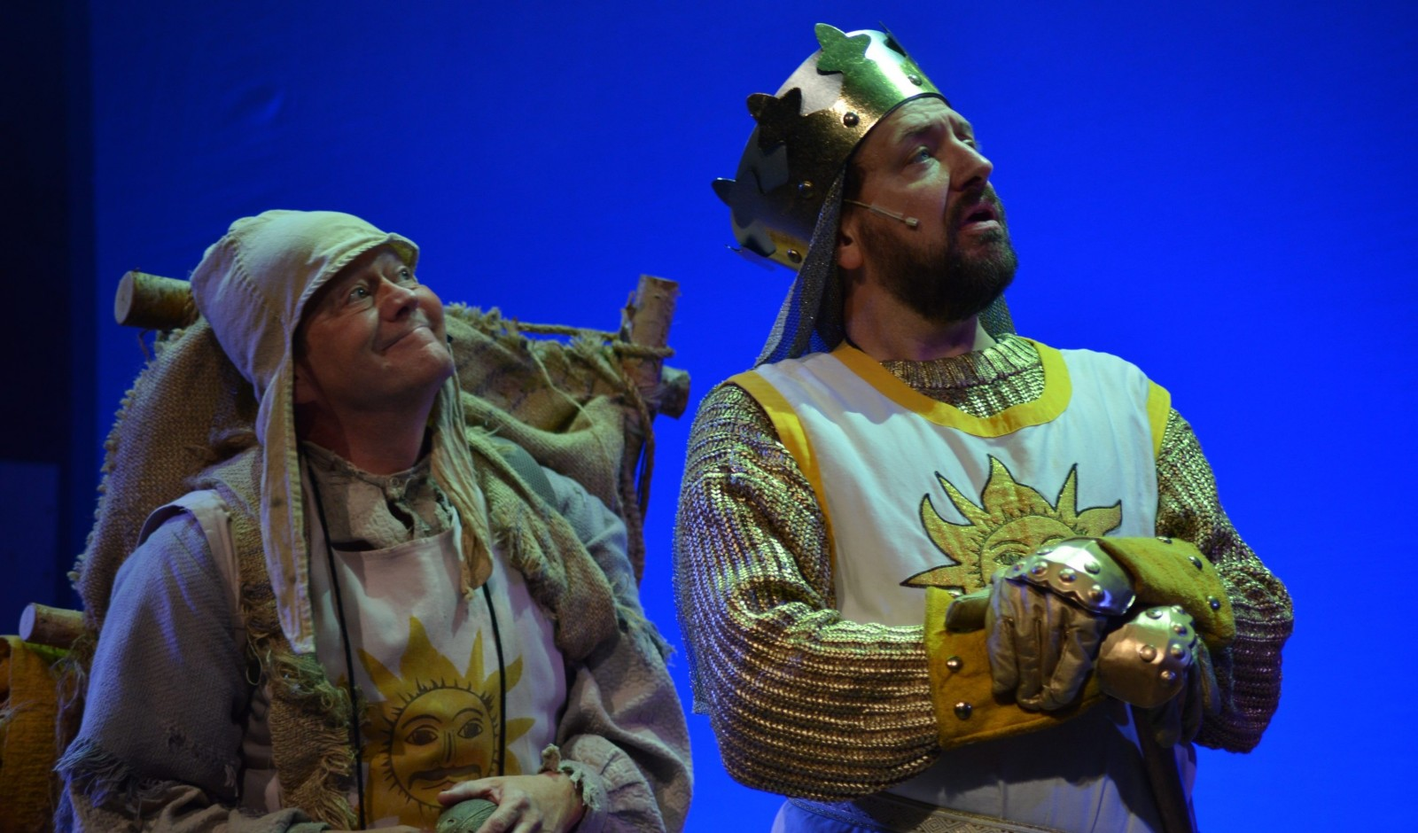 Scot Kaitanowski and Thomas LaChiusa are featured in the Lancaster Opera House's production of 'Spamalot.'