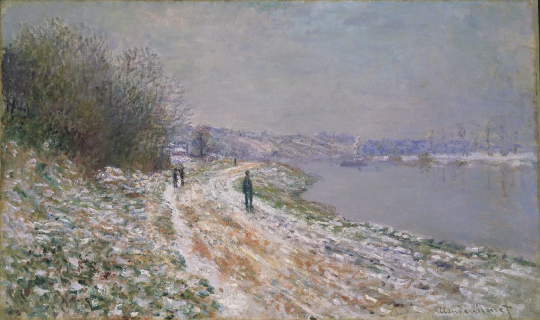 Claude Monet's painting from about 1875, 'Chemin de Halage a Argenteuil (Tow-path at Argenteuil),' is one of many impressionist works in the Albright-Knox Art Gallery's collection.