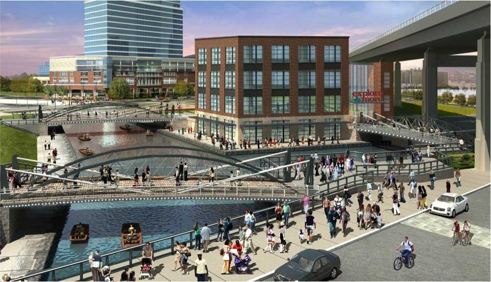 An artist's rendering of the waterfront area where the Explore & More Children's Museum will be built, with groundbreaking expected in late 2016.