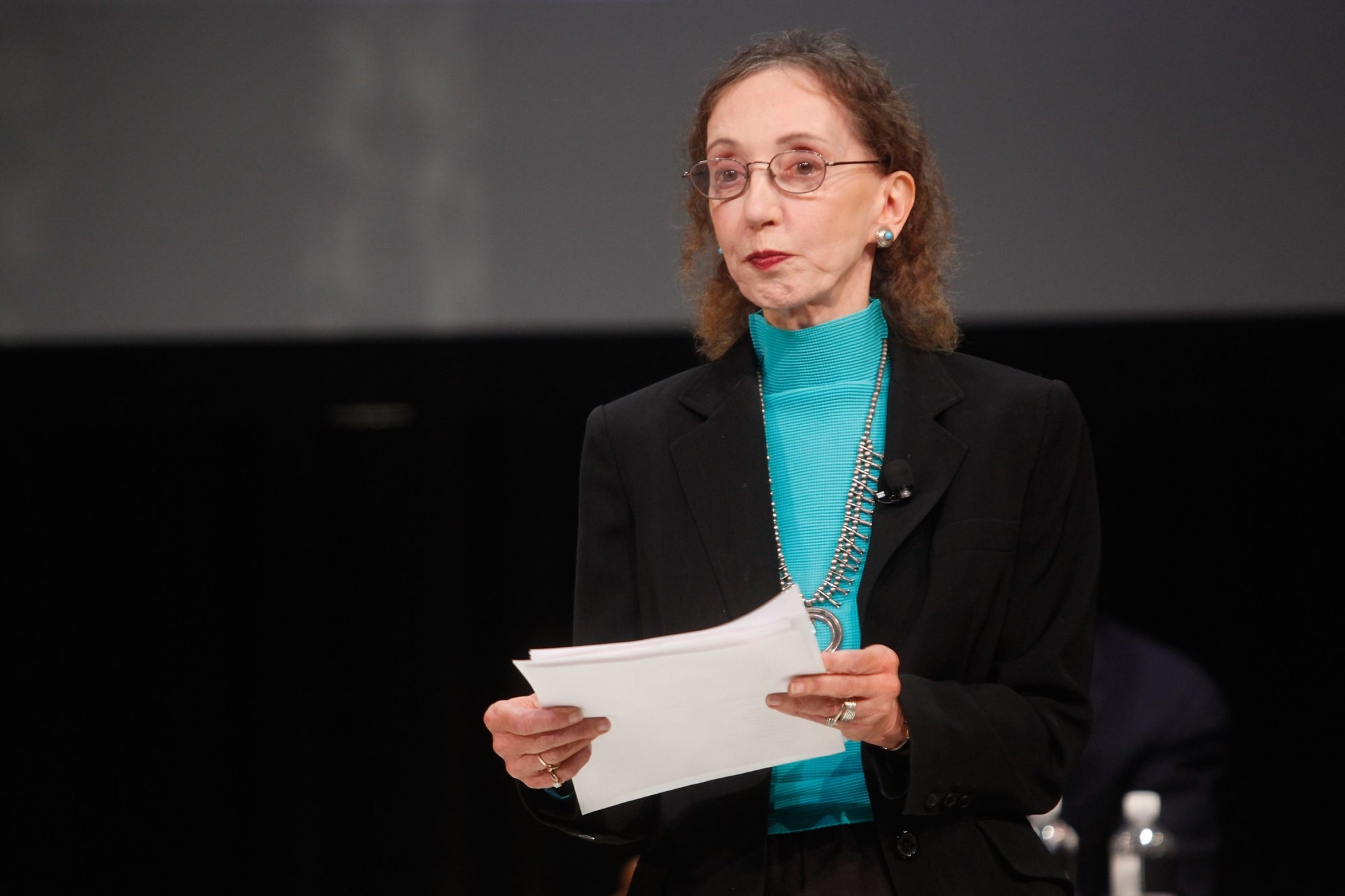 Joyce Carol Oates will make an appearance at the David A. Howe Public Library in Wellsville. (Getty Images)