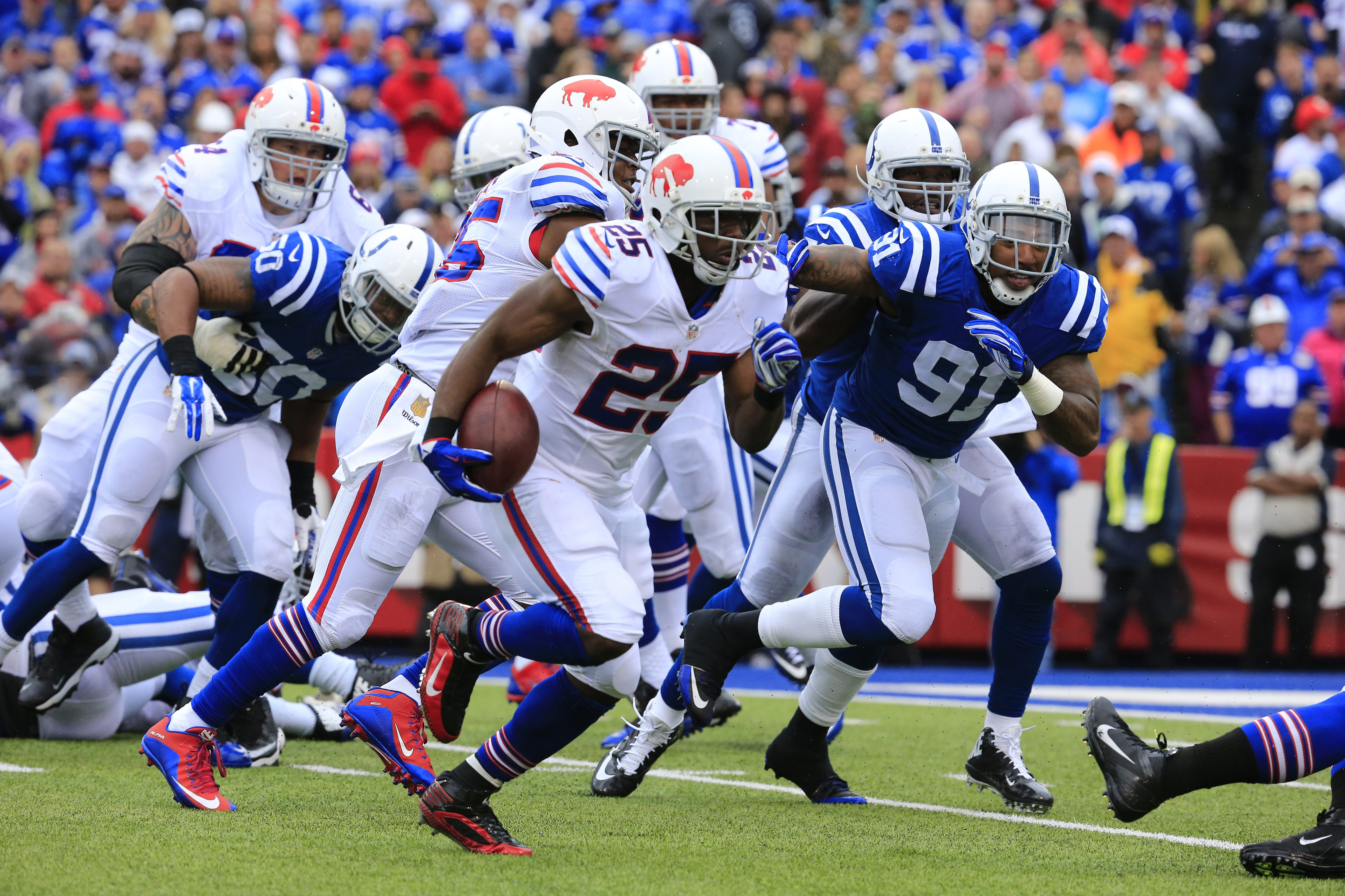 The Bills are 5-0 in games this season in which running back LeSean McCoy has carried the ball at least 20 times. (Harry Scull Jr./Buffalo News file photo)