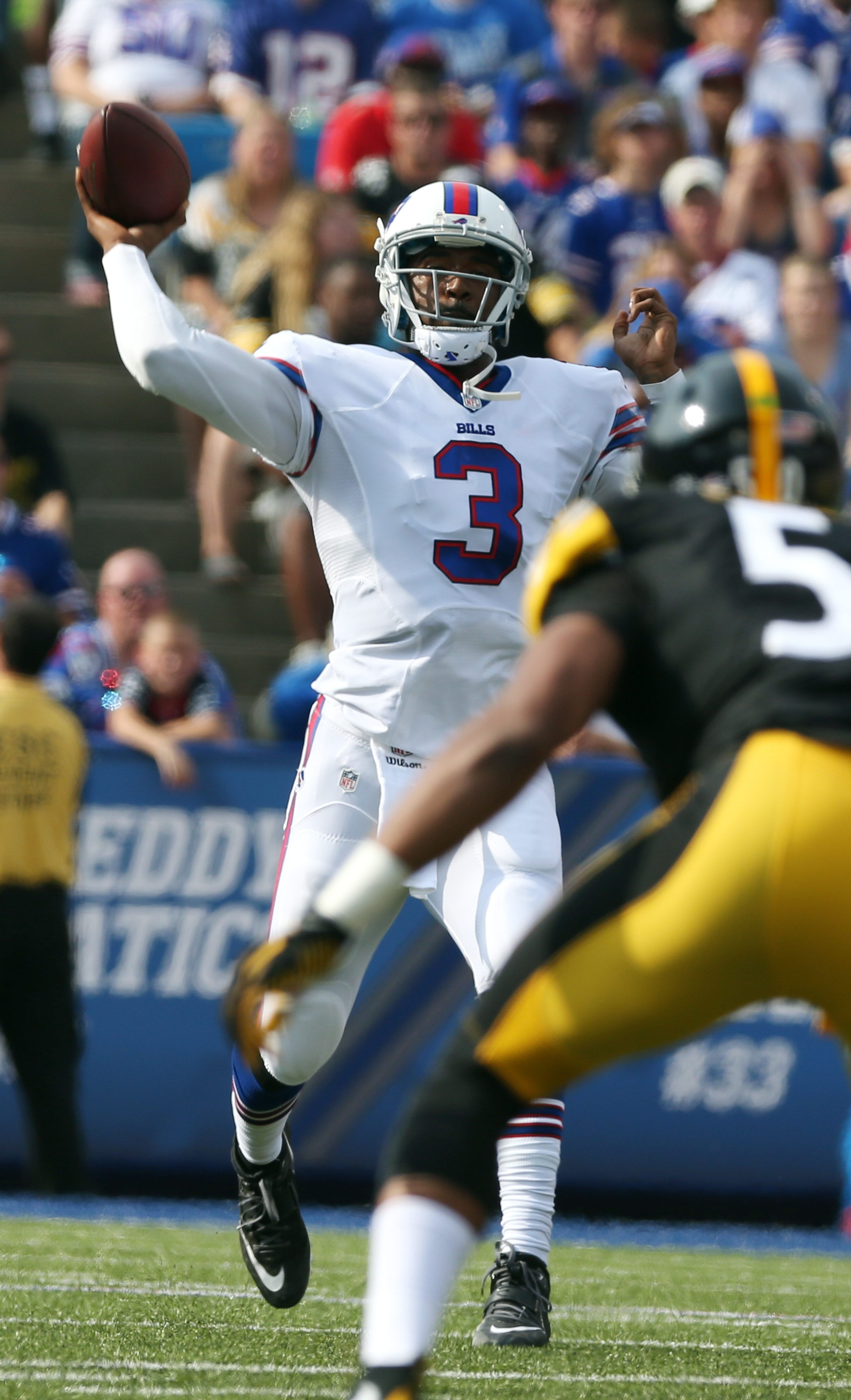 With the release of Matt Cassel, EJ Manuel is the only quarterback on the Bills' roster behind Tyrod Taylor.