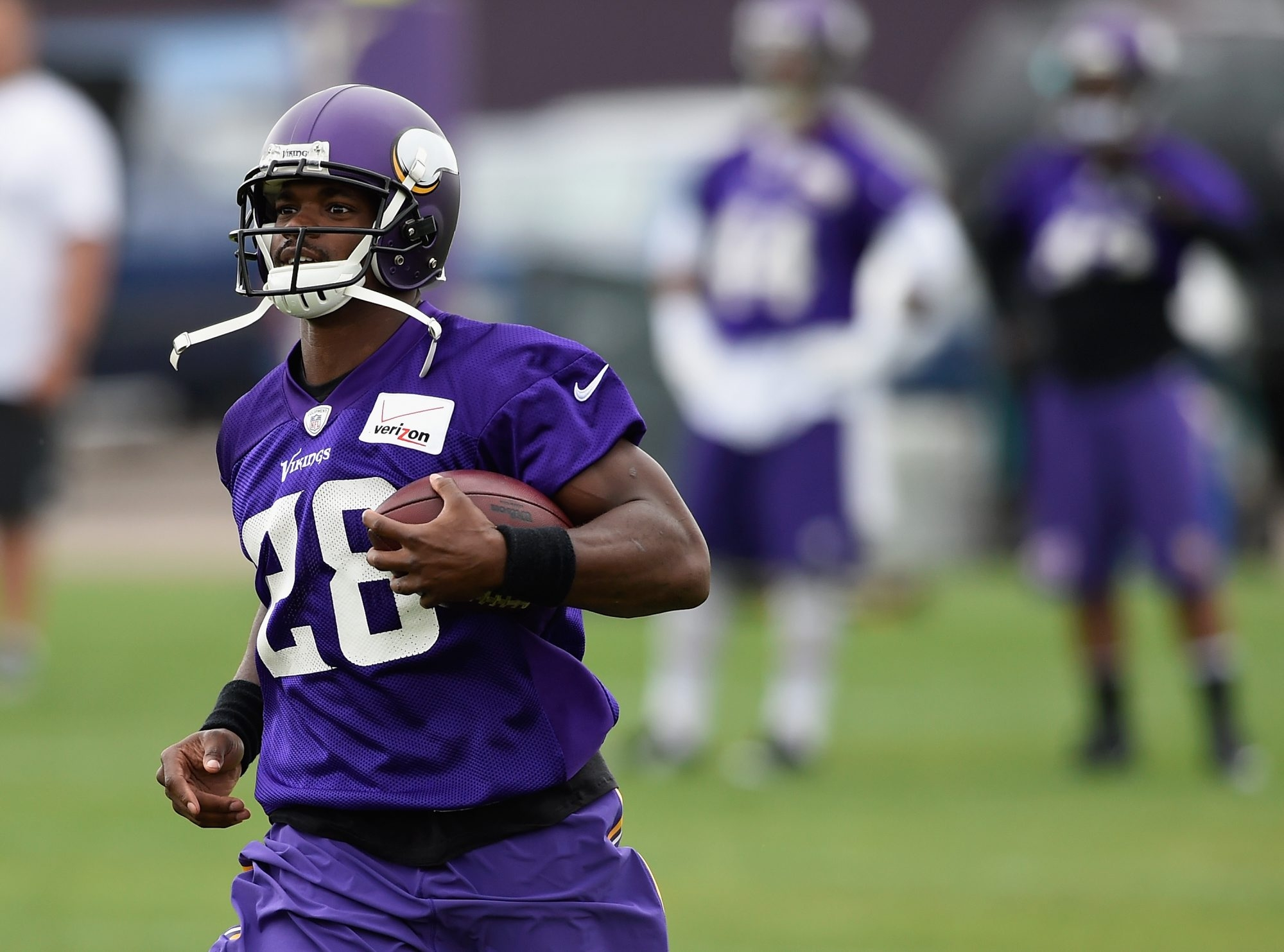 The Vikings' Adrian Peterson missed nearly all of last season and could have fresh legs for 2015.