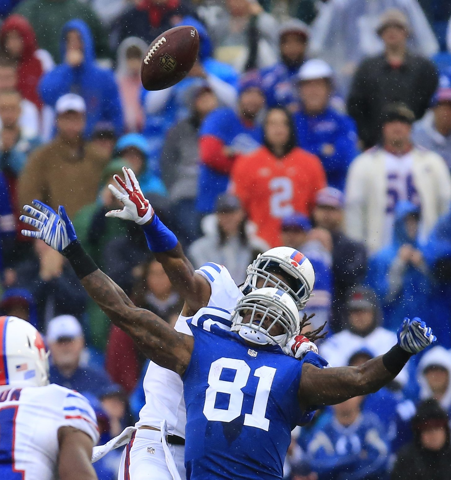 Buffalo Bills Mario Butler tips a pass intended for Indianapolis Colts Andre Johnson during the fourth quarter at Ralph Wilson Stadium on Sunday, Sept. 13, 2015.  (Harry Scull Jr./Buffalo News)