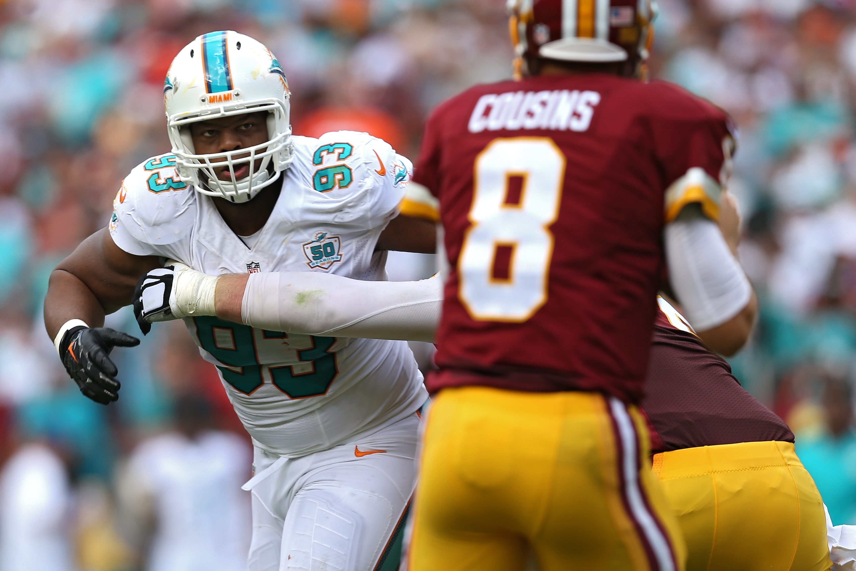 Miami's fate could depend on defensive tackle Ndamukong Suh playing up to his free-agency fueled paycheck.
