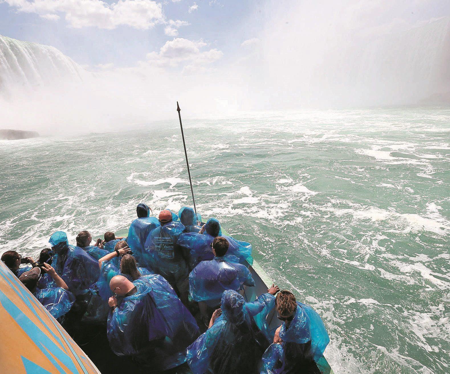 The Maid of the Mist carries sightseers towards the base of Niagara Falls.  (File photo/Sharon Cantillon/Buffalo News)