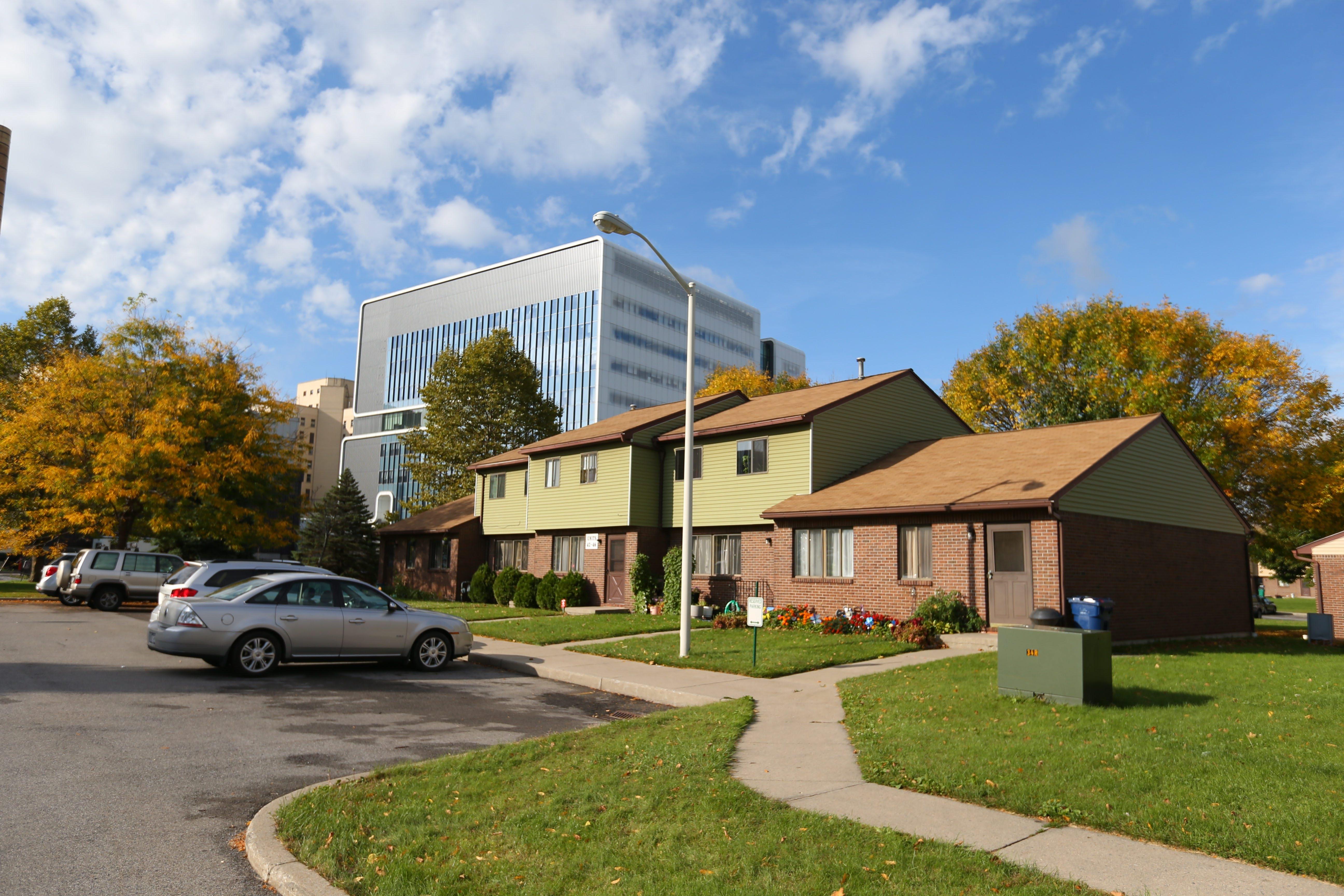 The garden-style Pilgrim Village Apartments near Buffalo Niagara Medical Campus will be renovated.