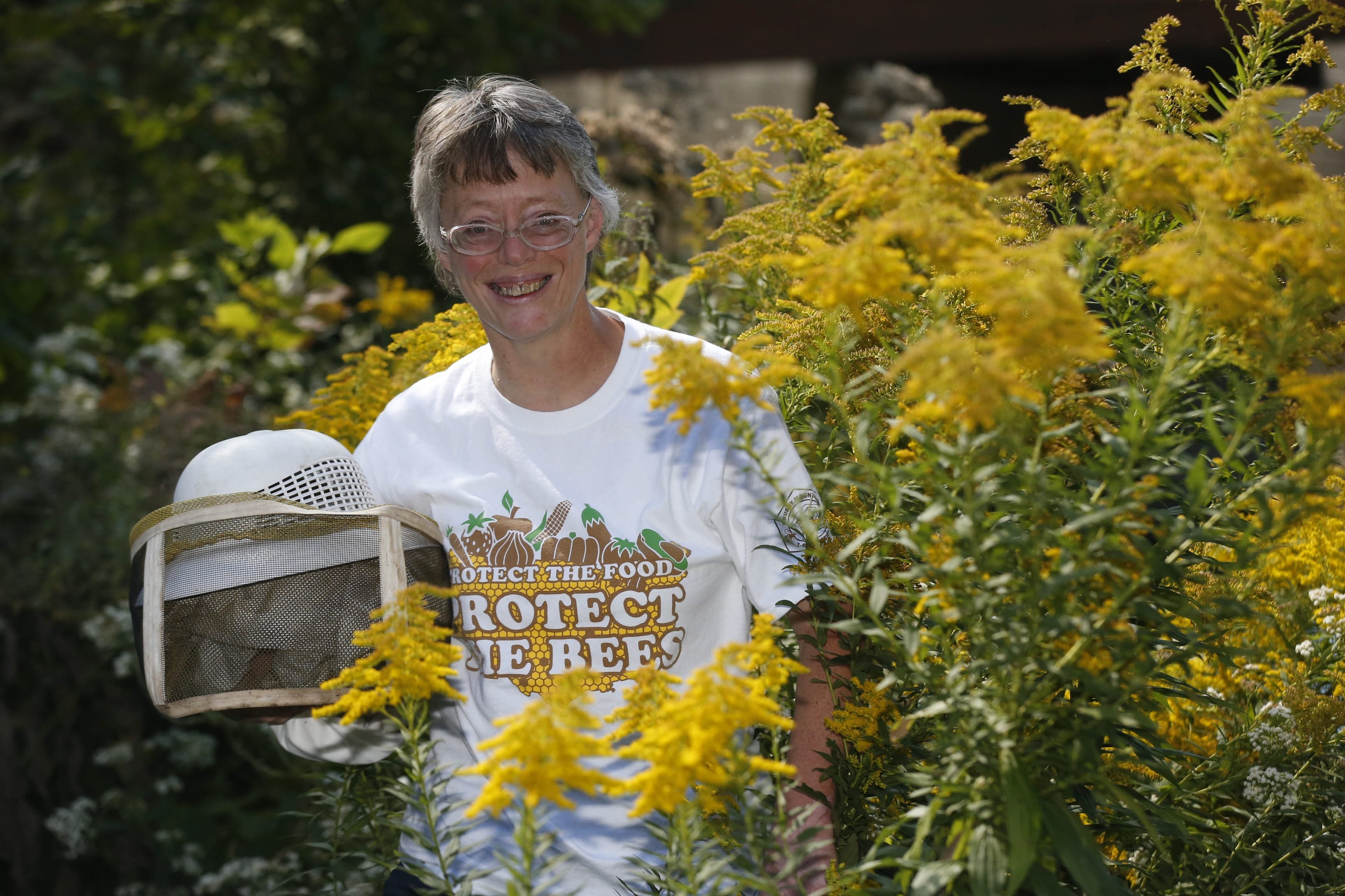Geri Hens runs Hens Honey Bee Farm in Pendleton. She maintains 1,000 bee colonies in 11 counties in New York State. Bee farming is a second career for the former teacher who had to retire after she was the victim in a drunken driving crash.