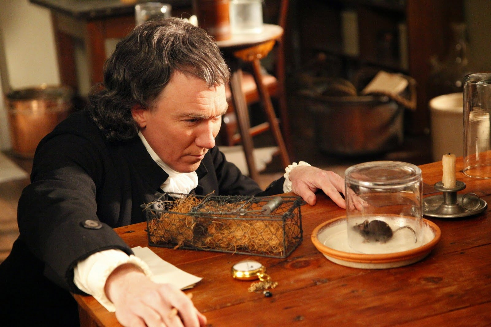 "Patrick Page as Joseph Priestley in ""The Mystery of Matter: Search for the Elements"" on PBS."