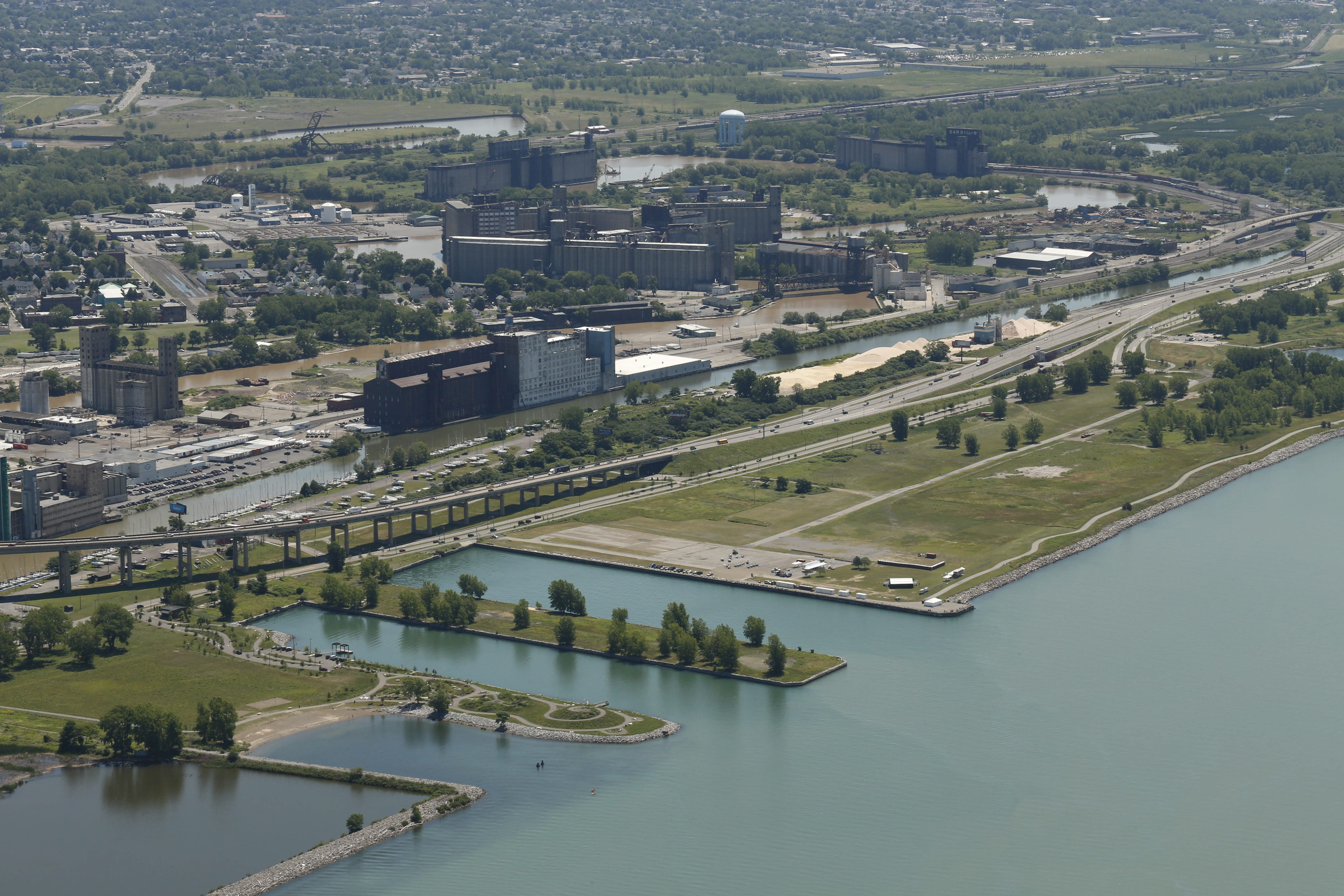 The new plan for Buffalo's Outer Harbor is lighter on development.  (Derek Gee/Buffalo News)