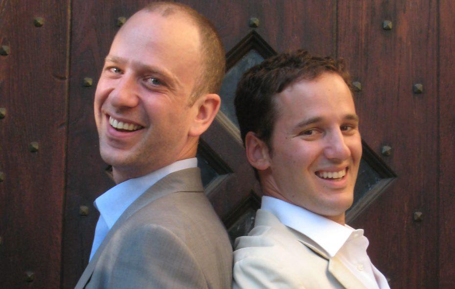 "Peter Kujawinski, left, and Jake Halpern are co-authors of ""Nightfall."""