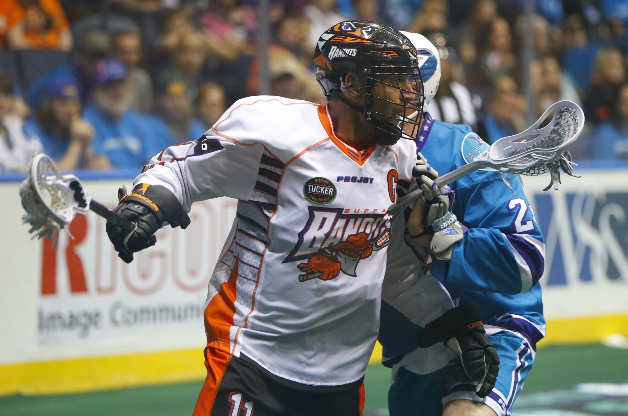 John Tavares, shown during his final season with the Buffalo Bandits, had his epic career begin in Detroit before becoming on of Buffalo's all-time great sports performers.