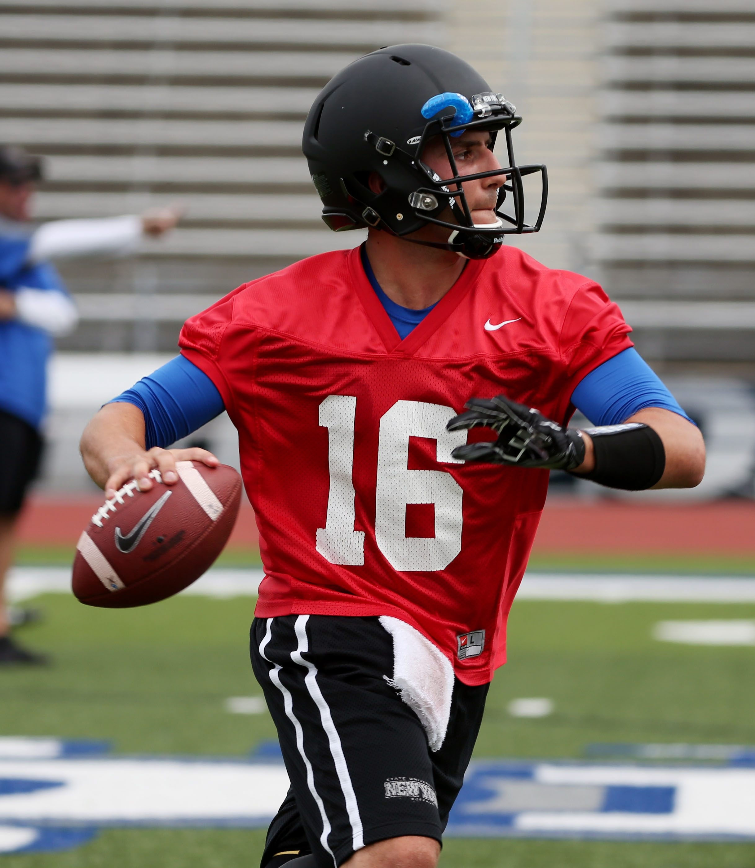 Quarterback Joe Licata needs another strong season to become the all-time leading passer at UB.