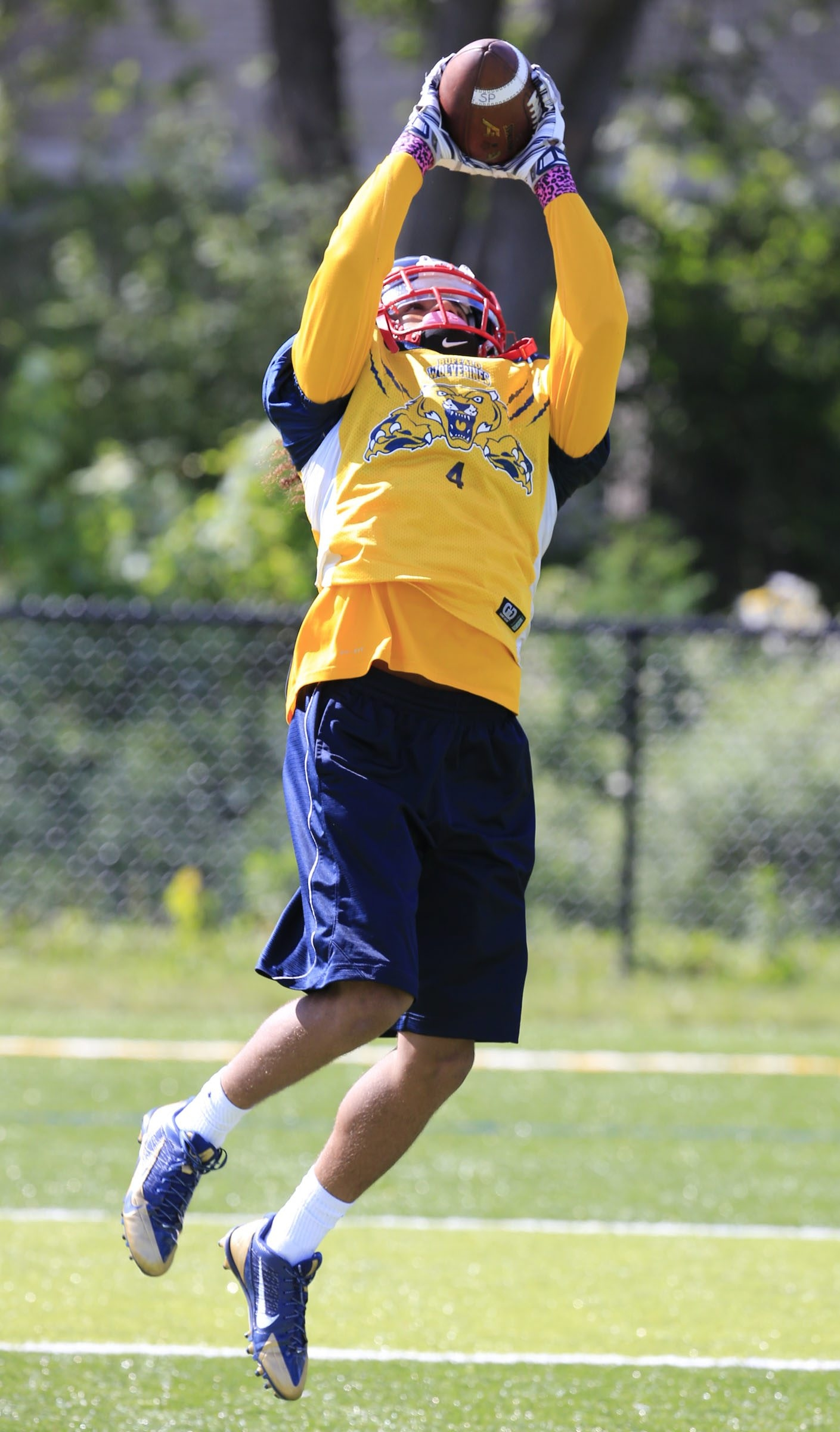 After making plays for Canisius last season, receiver David Thomas looks to do the same for defending division champion South Park.