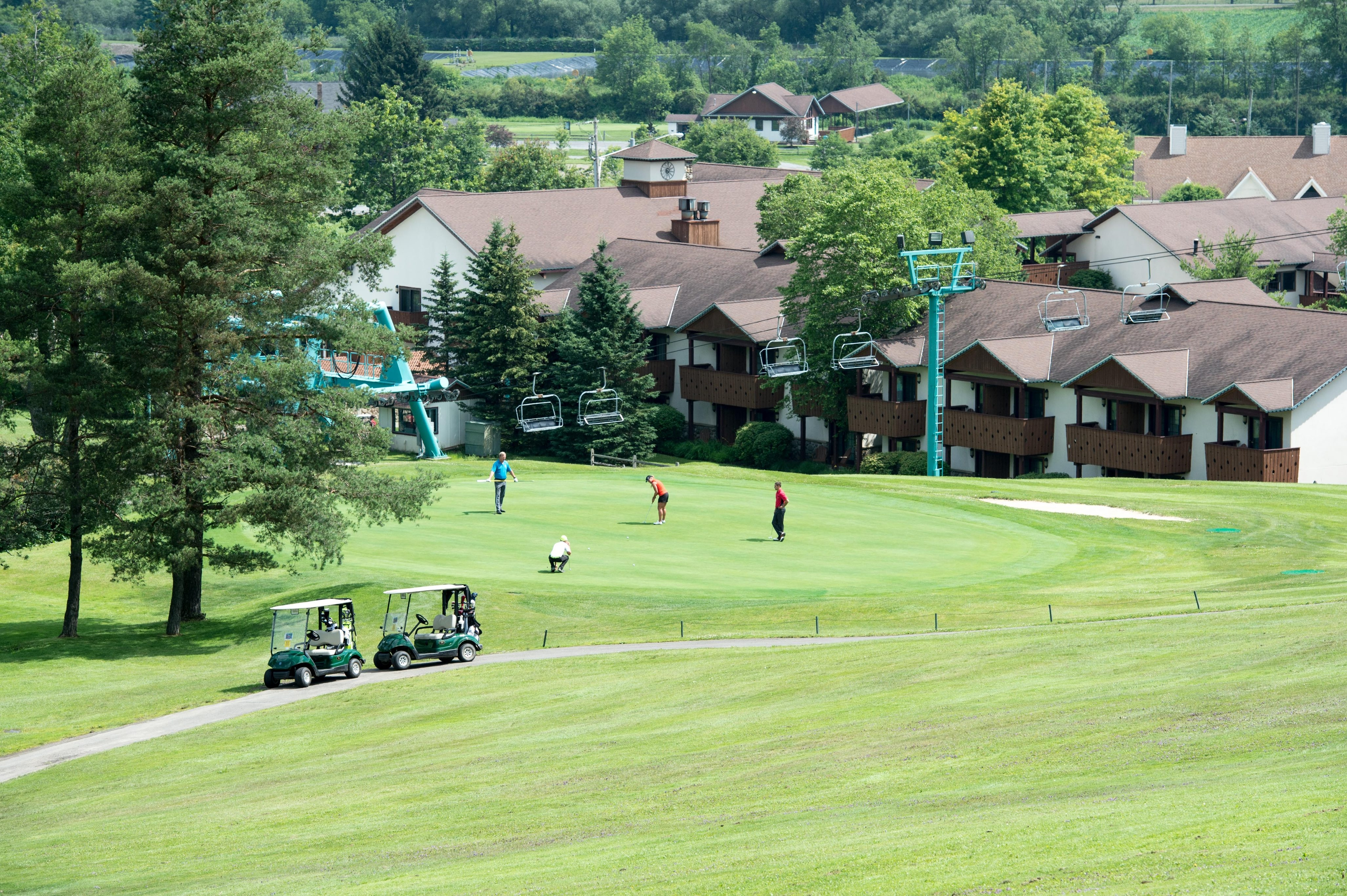 Ellicottville, NY. JUL 10, 2015: Scenes from the Holiday Valley Golf photo shoot.  (c) Craig Melvin/2015