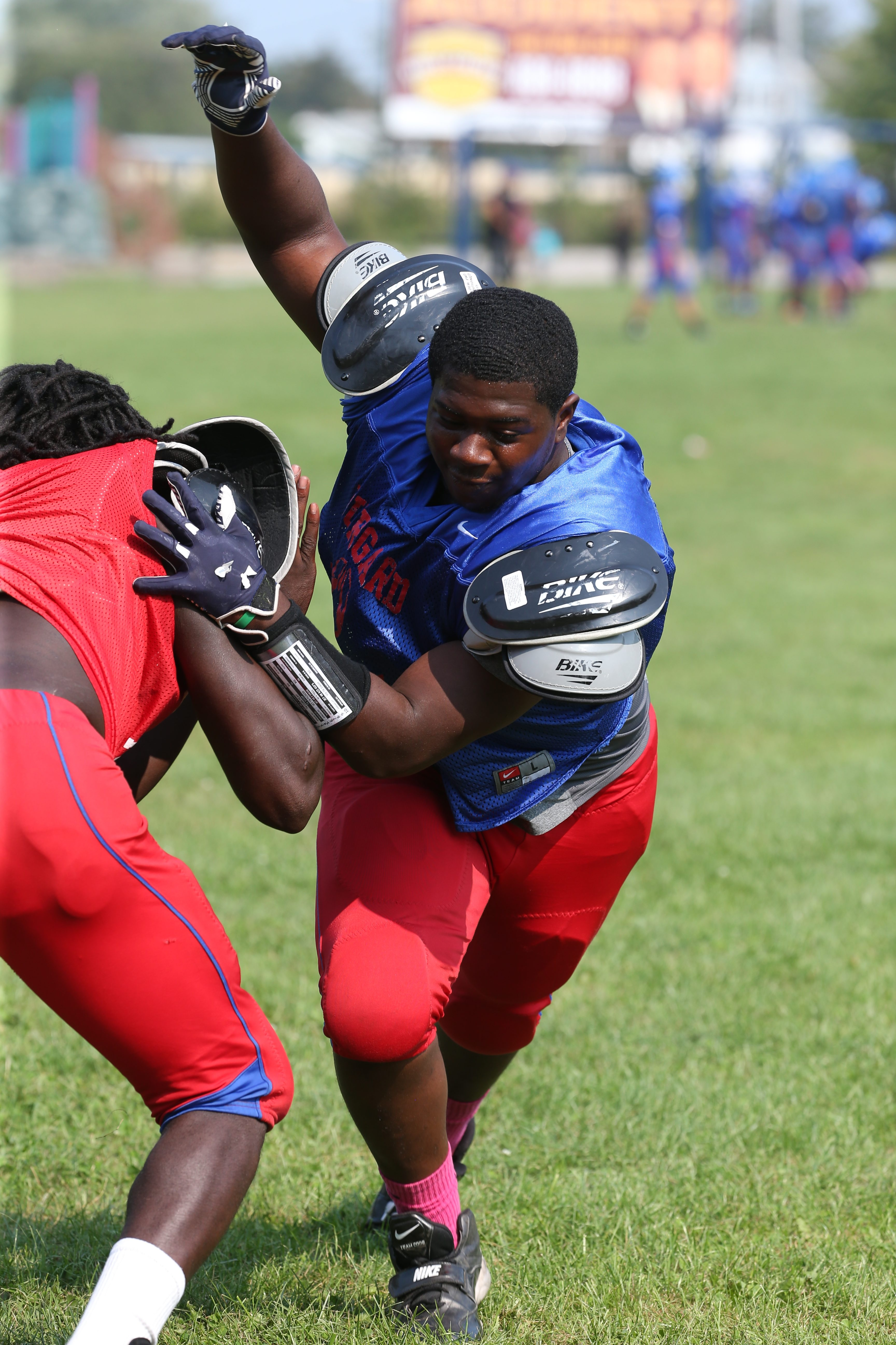 Jia Hunter, a two-way lineman, is one of the few returning starters up front for Burgard's Bulldogs.
