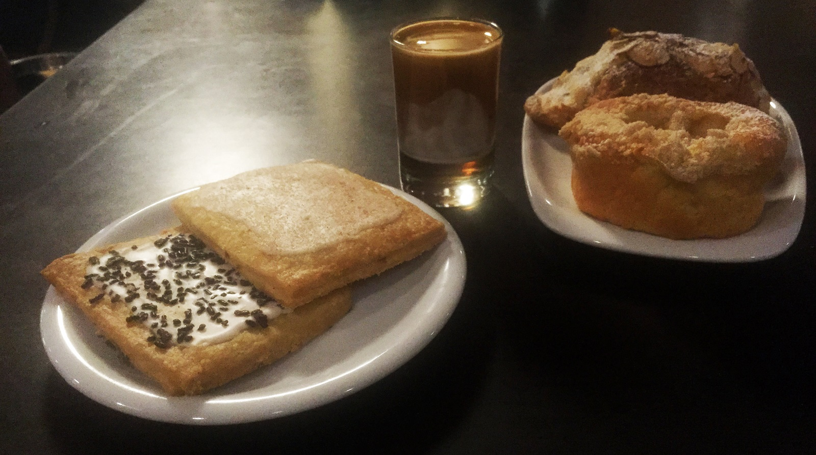 Butter Block pastries -- including their near-addictive pop tarts -- pair nicely with drinks at Public Espresso. (Lizz Schumer/Special to The News)