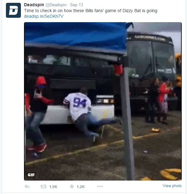 This video went viral, especially once Deadspin found it.