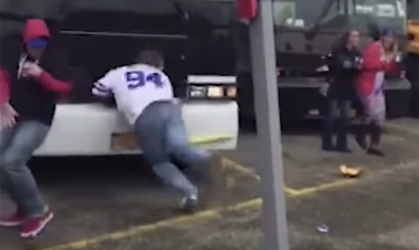 Meet Dizzy Bat Kid, who had the week of his life after epic tailgate face plant